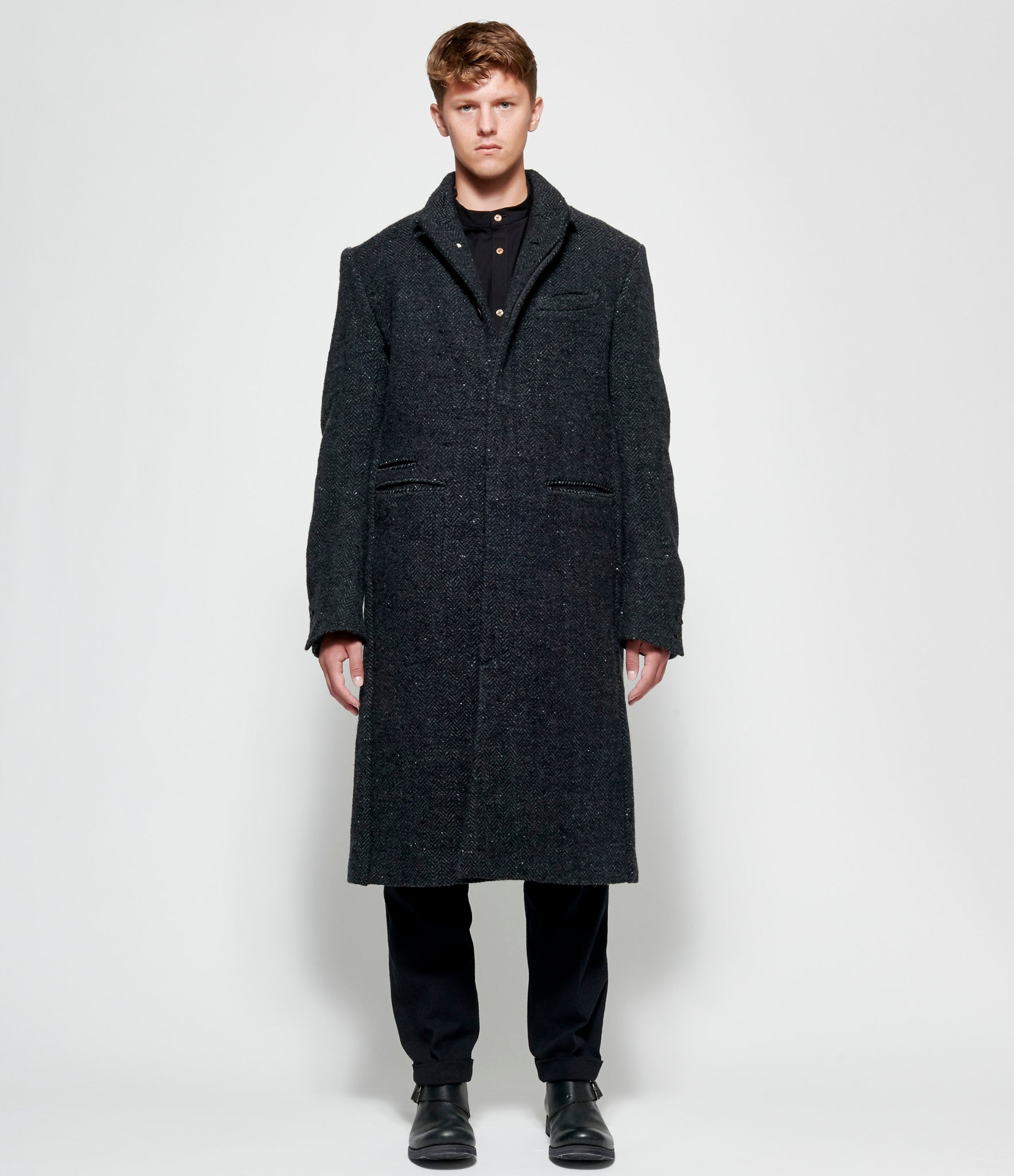 Individual Sentiments Wool Angora Tweed Coat