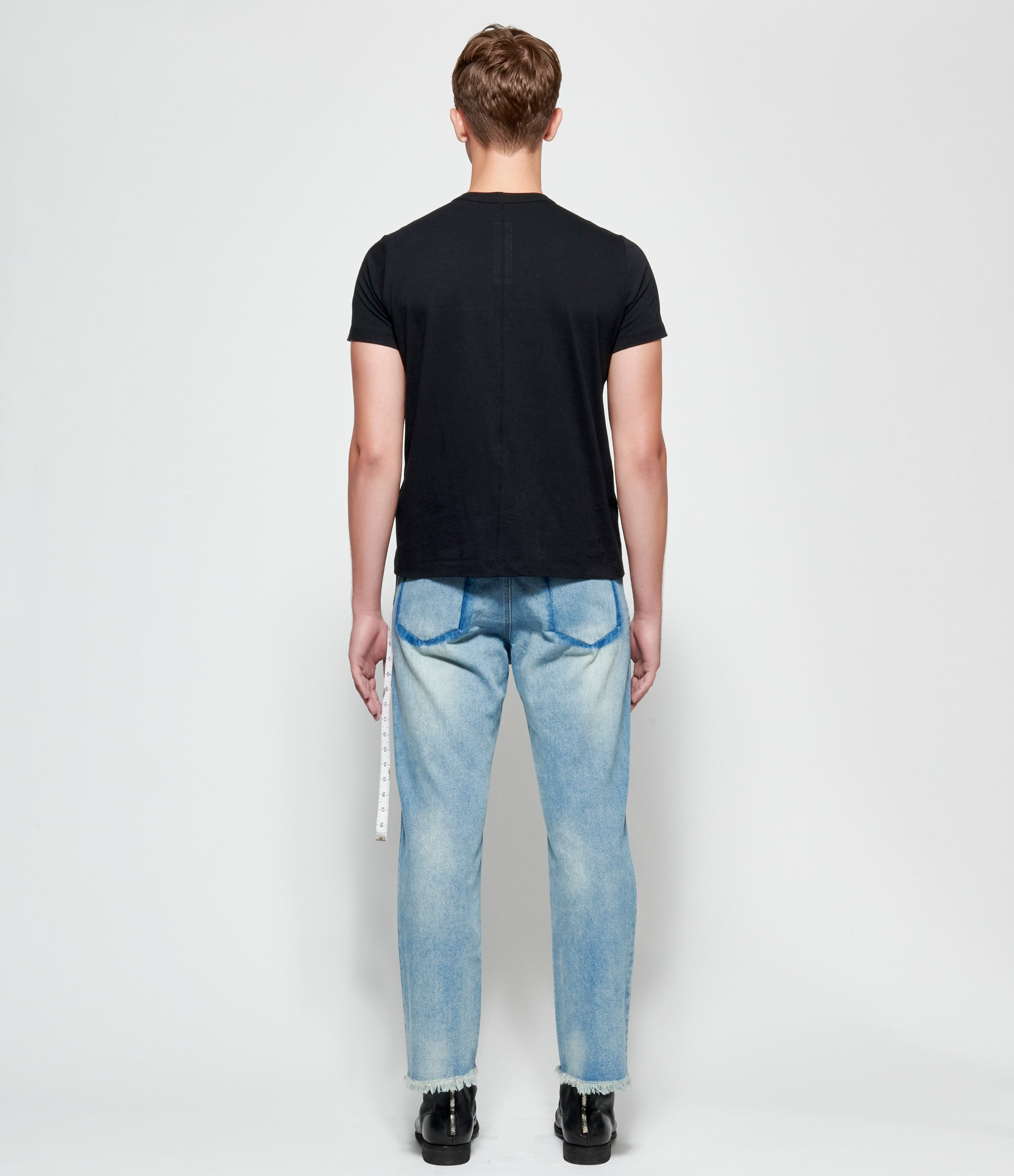 Sagittaire A Measuring Tape Faded Denim Jeans