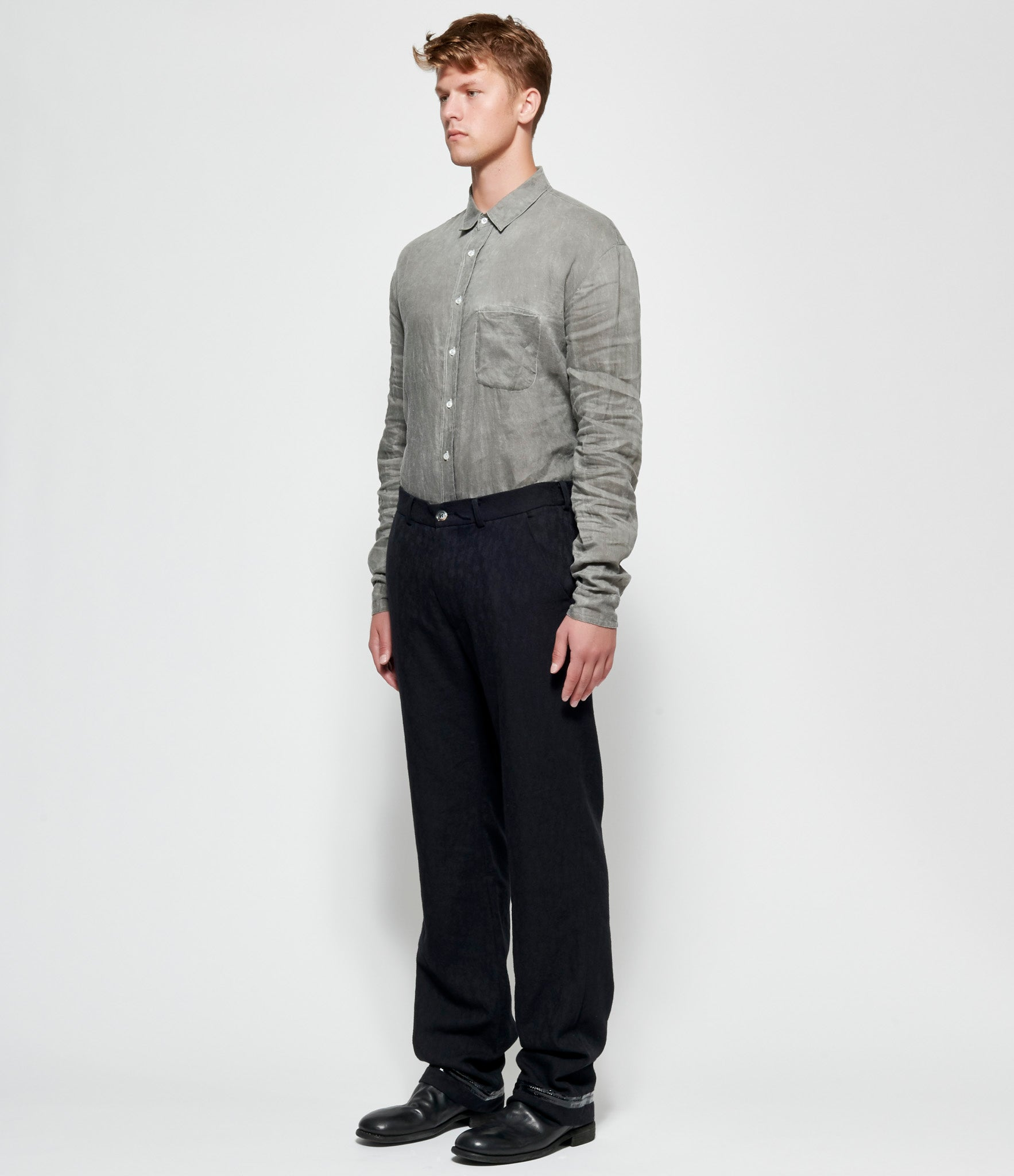 Sagittaire A Cotton Twill Taped Seam Hem Trousers