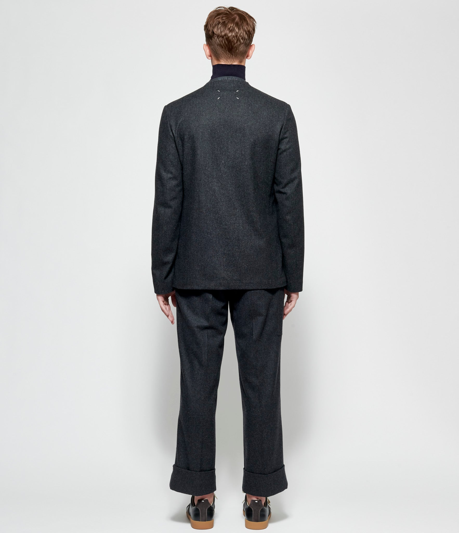 Maison Margiela Lambswool Cloth Collarless Blazer