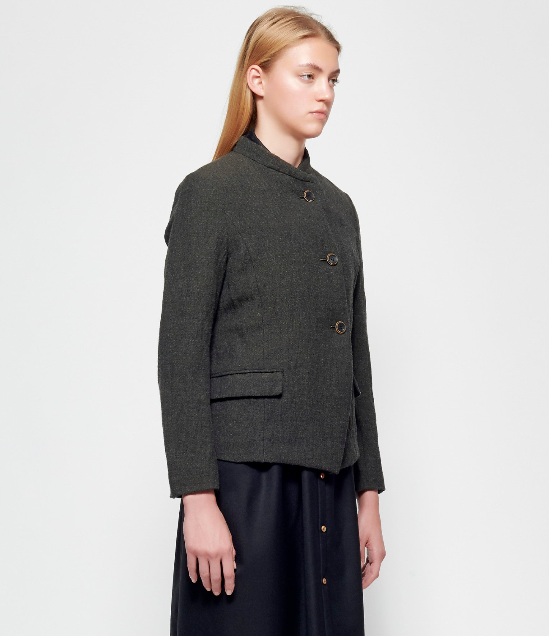 Individual Sentiments Stainless Wool Tweed Jacket