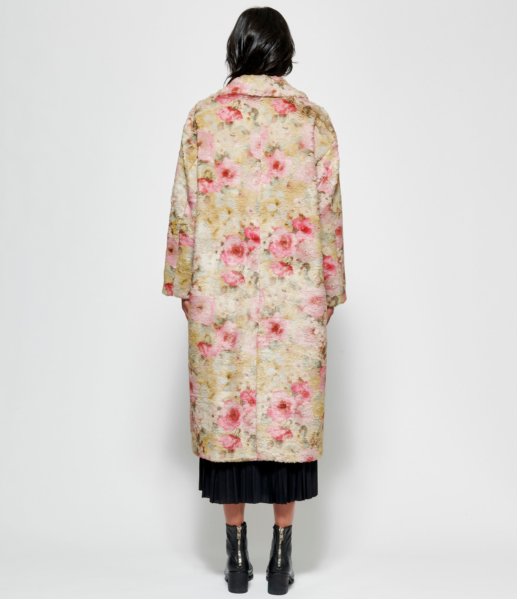 Leur Logette Monet Flower Faux Fur Coat