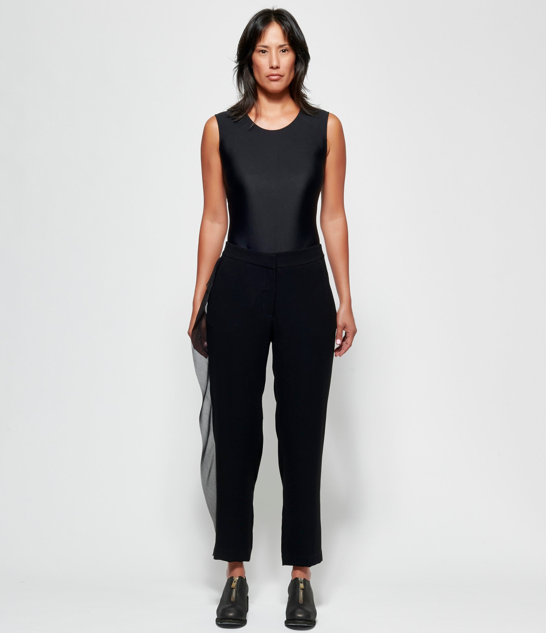 Replika Black Lace Flanged Tailored Pants