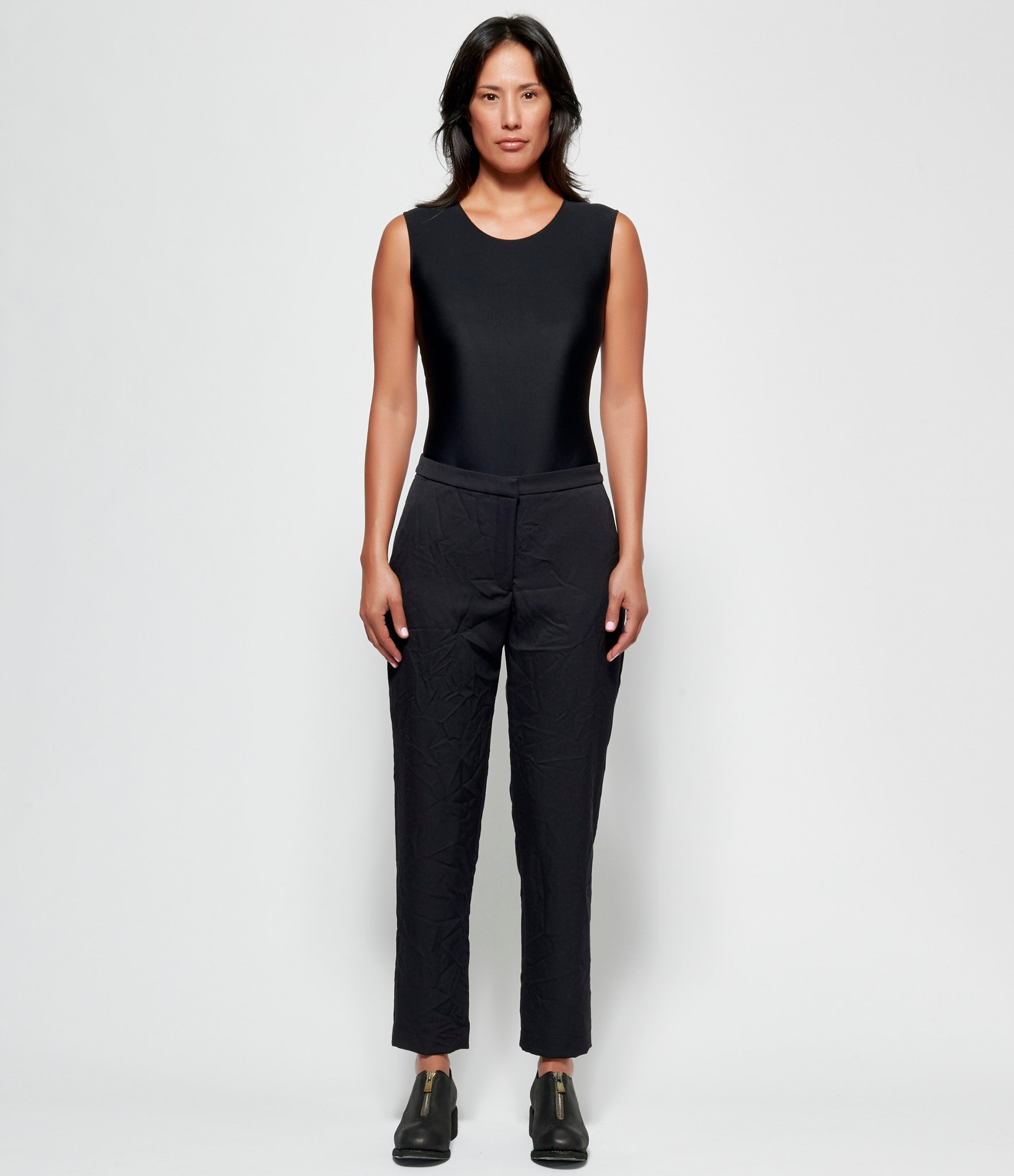 Replika Black Crinkled Pants
