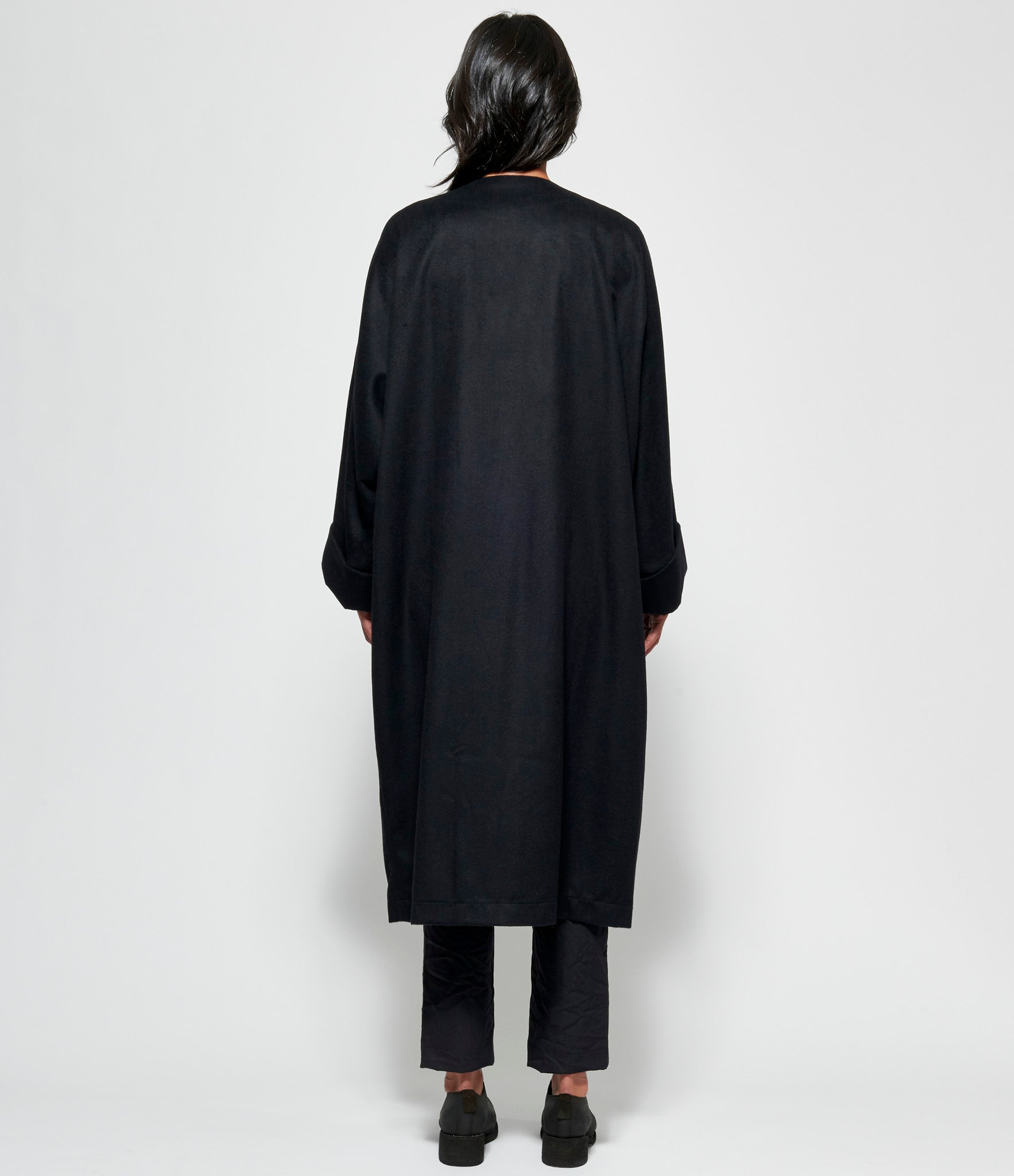 Replika Collarless Cashmere Coat