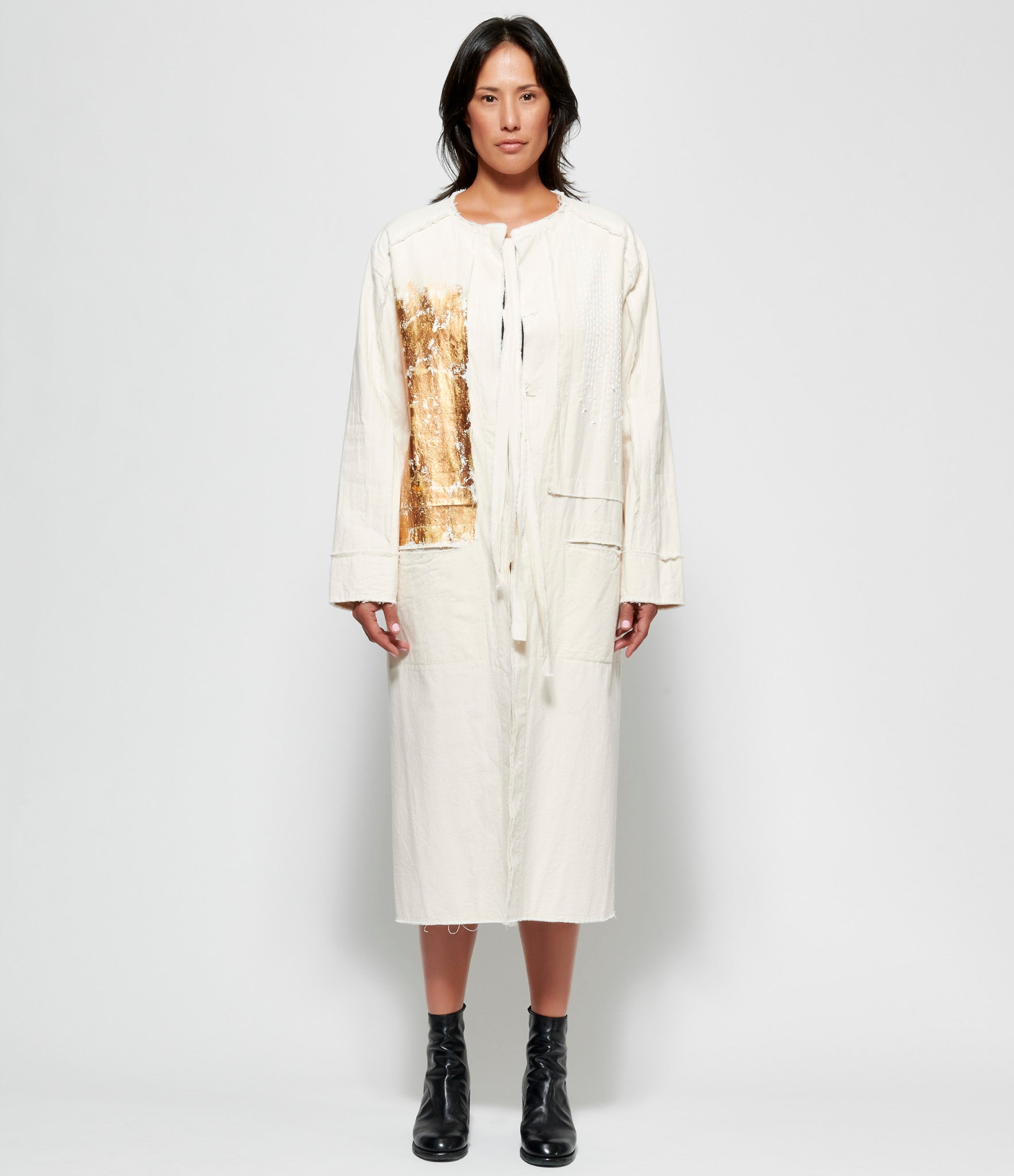 Replika Stitched Gold Foil Coat