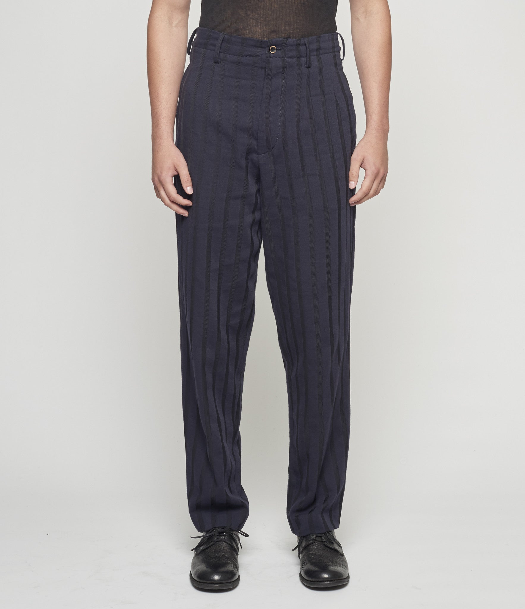 Uma Wang Textured Stripes Osaka Pants