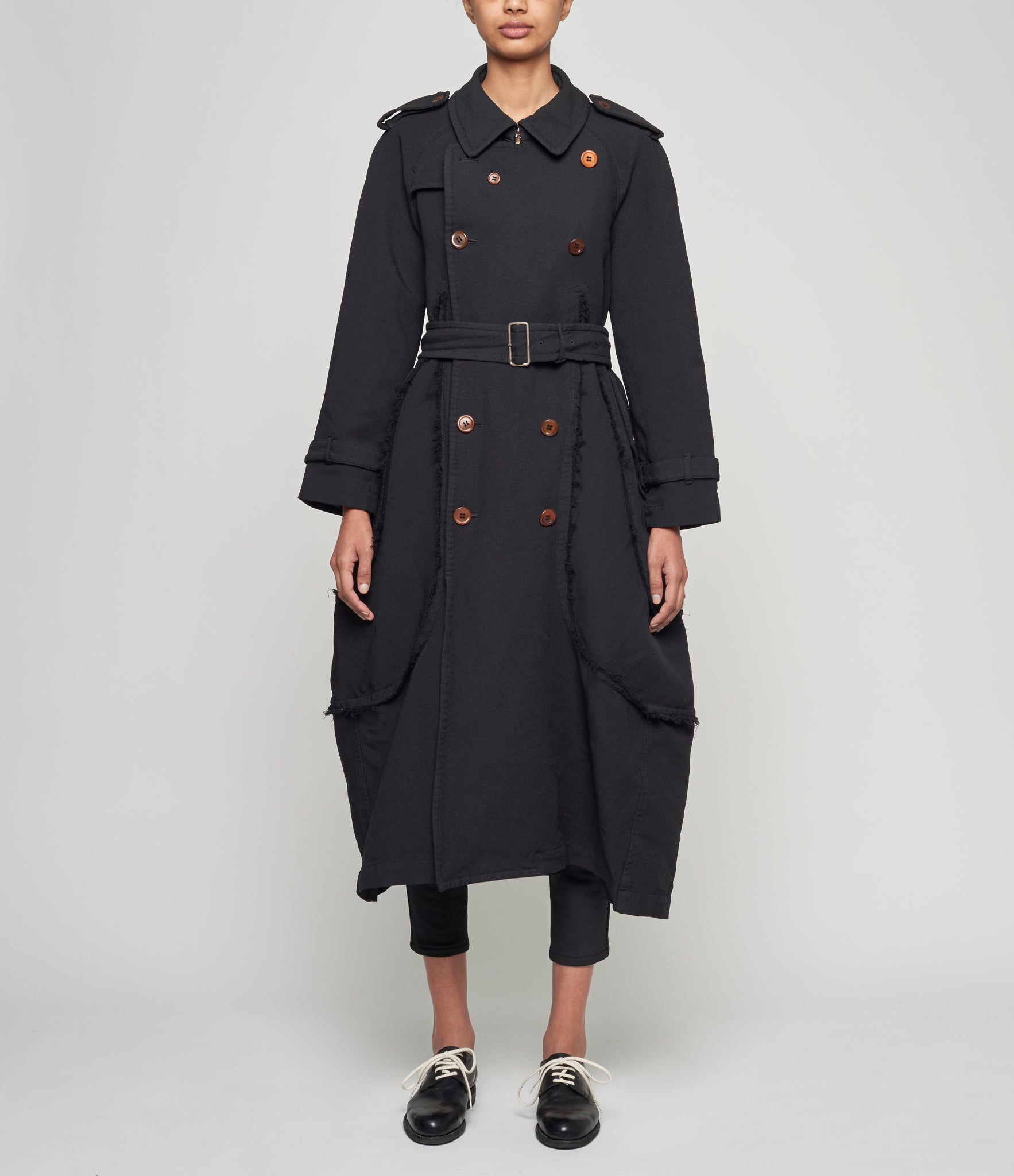 Comme Des Garcons Double Cloth Serge 3D Paneled Military Coat