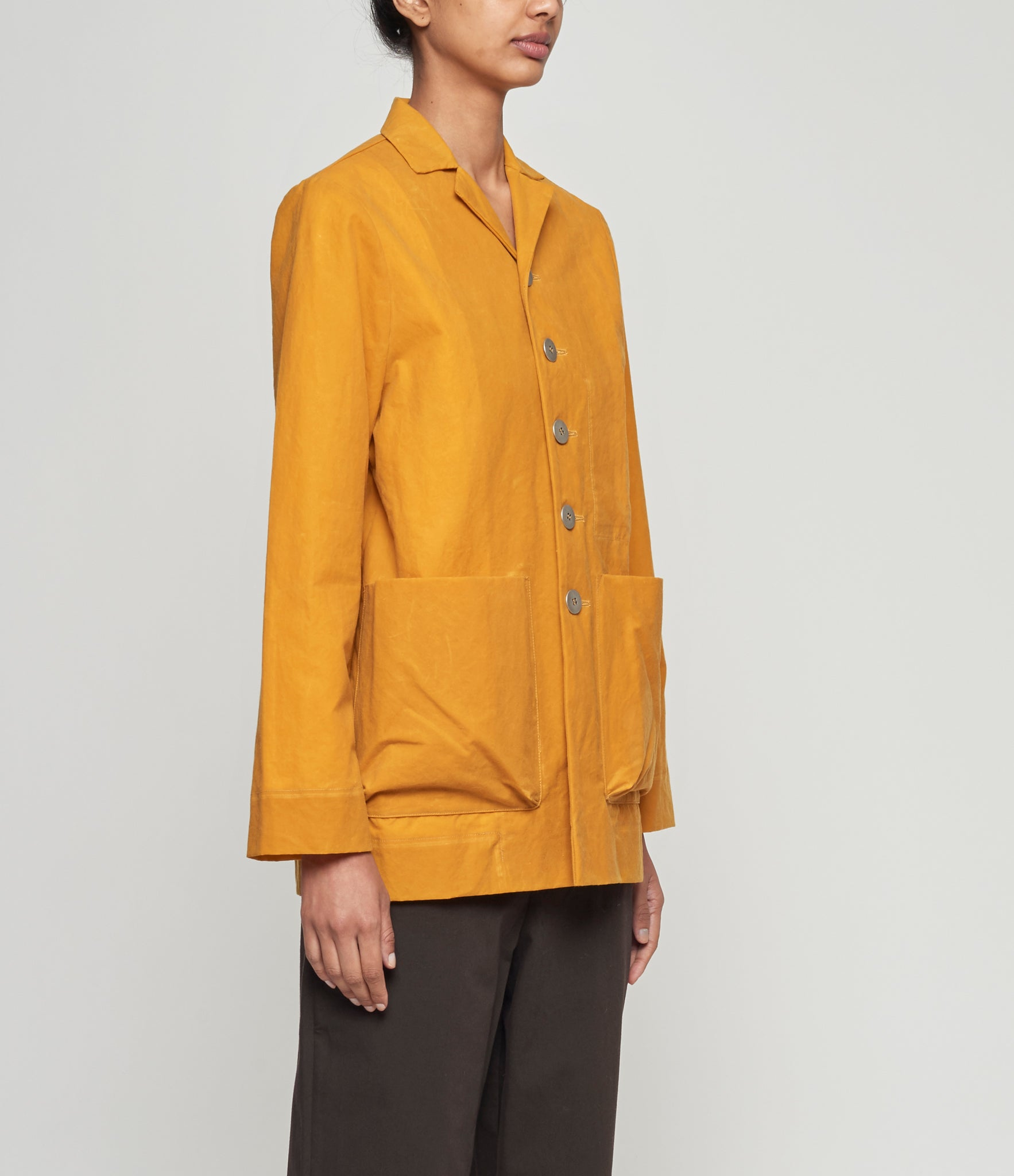 Toogood The Photographer Mustard Waxed Jacket