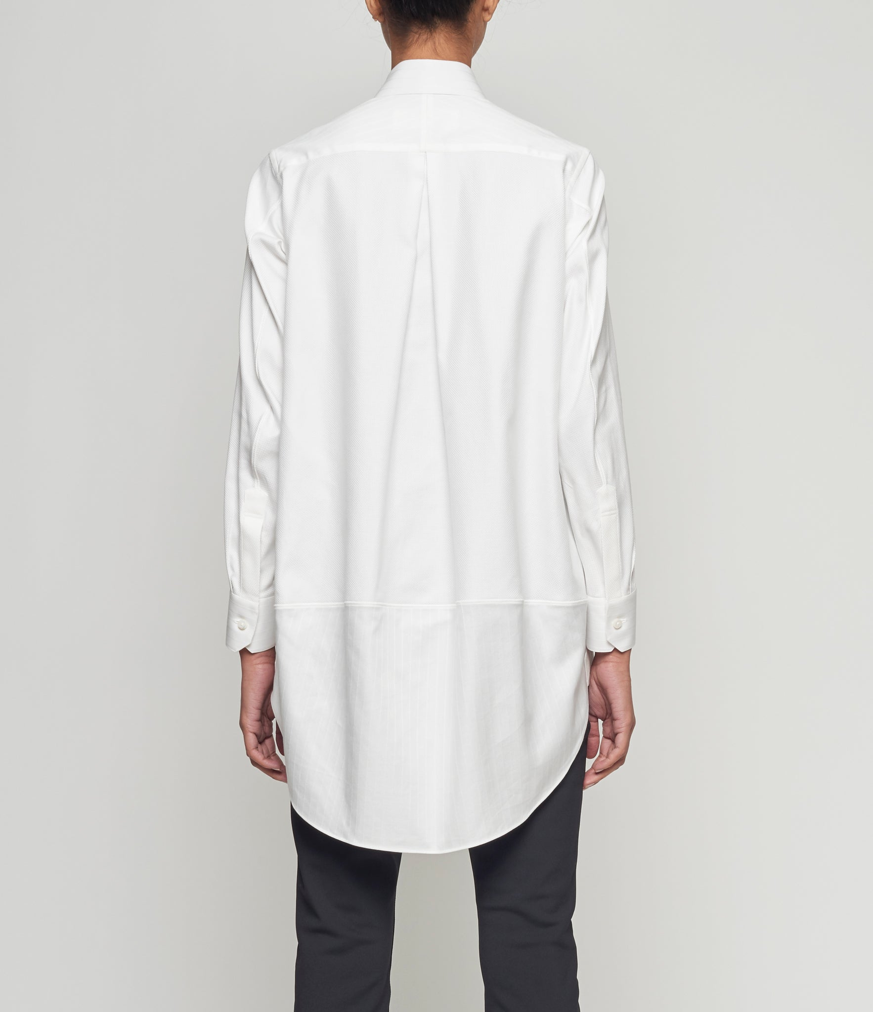 Shiro Sakai Curved Back White Shirt
