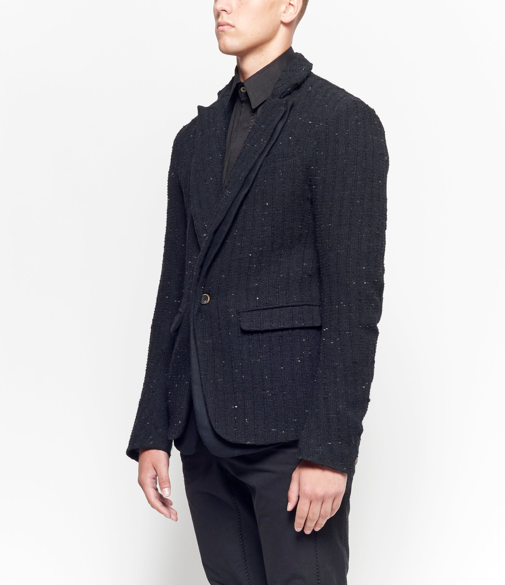 Individual Sentiments Layered Lapel Jacket