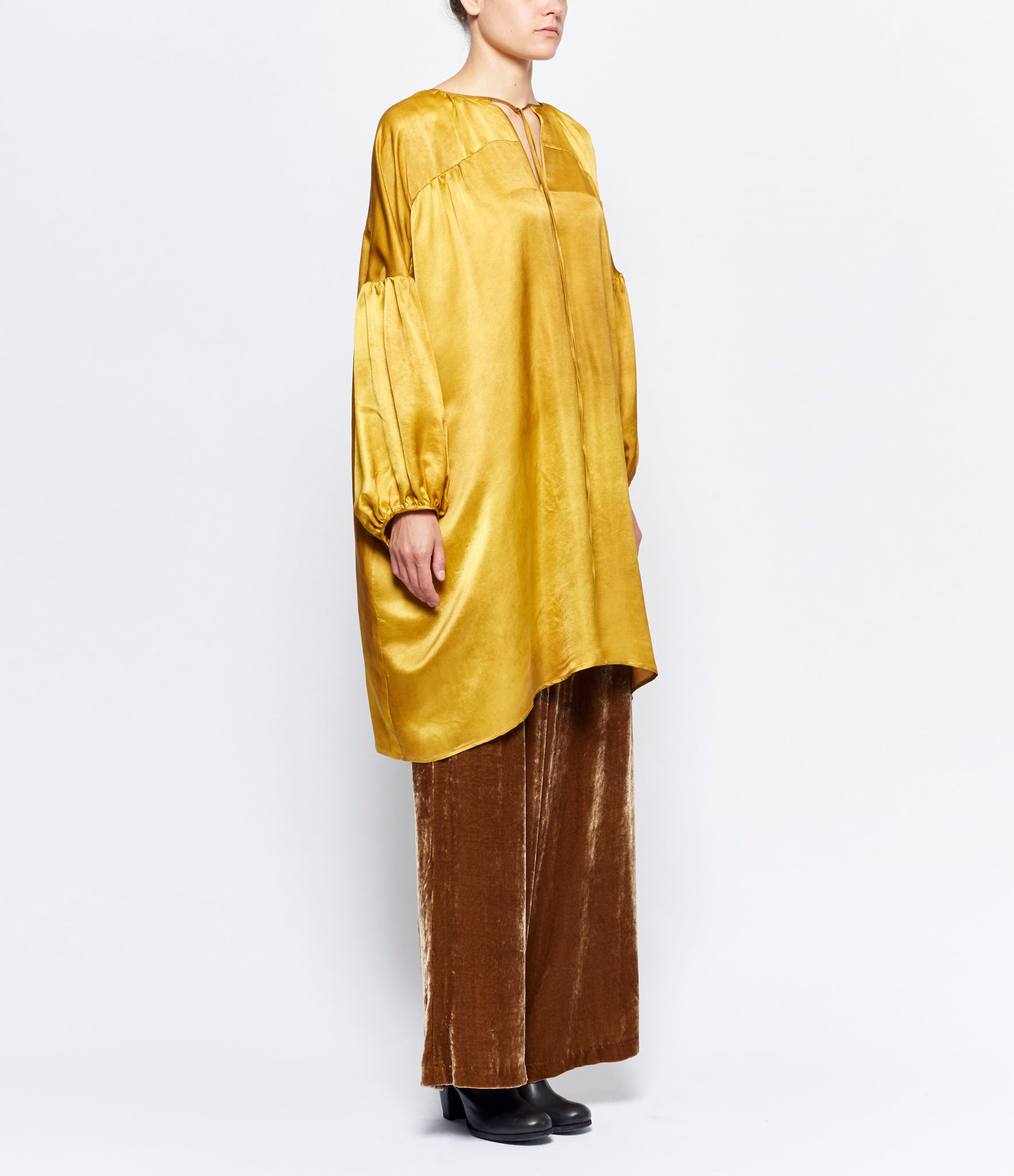 Uma Wang Peasant Sleeve Tierra Long Top