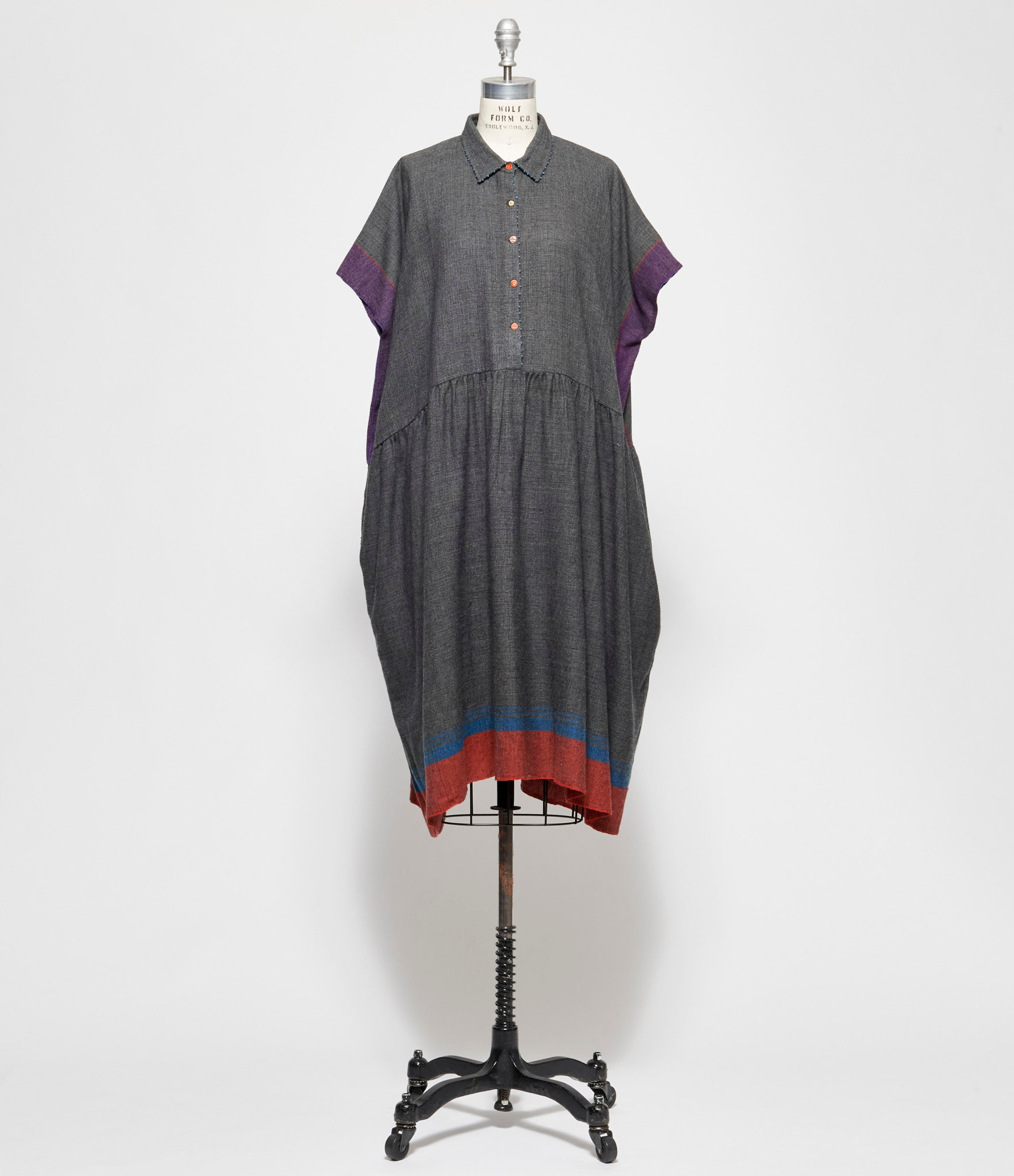 Pero Wool Flannel Short Sleeve Dress