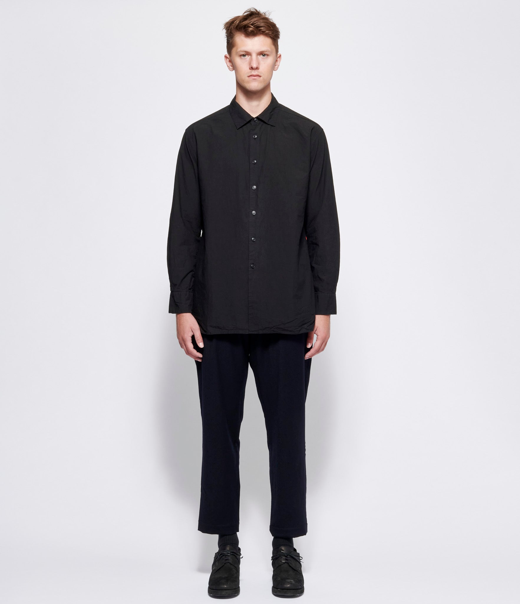 Casey Casey +PLUS Black Big Raccourcie Shirt