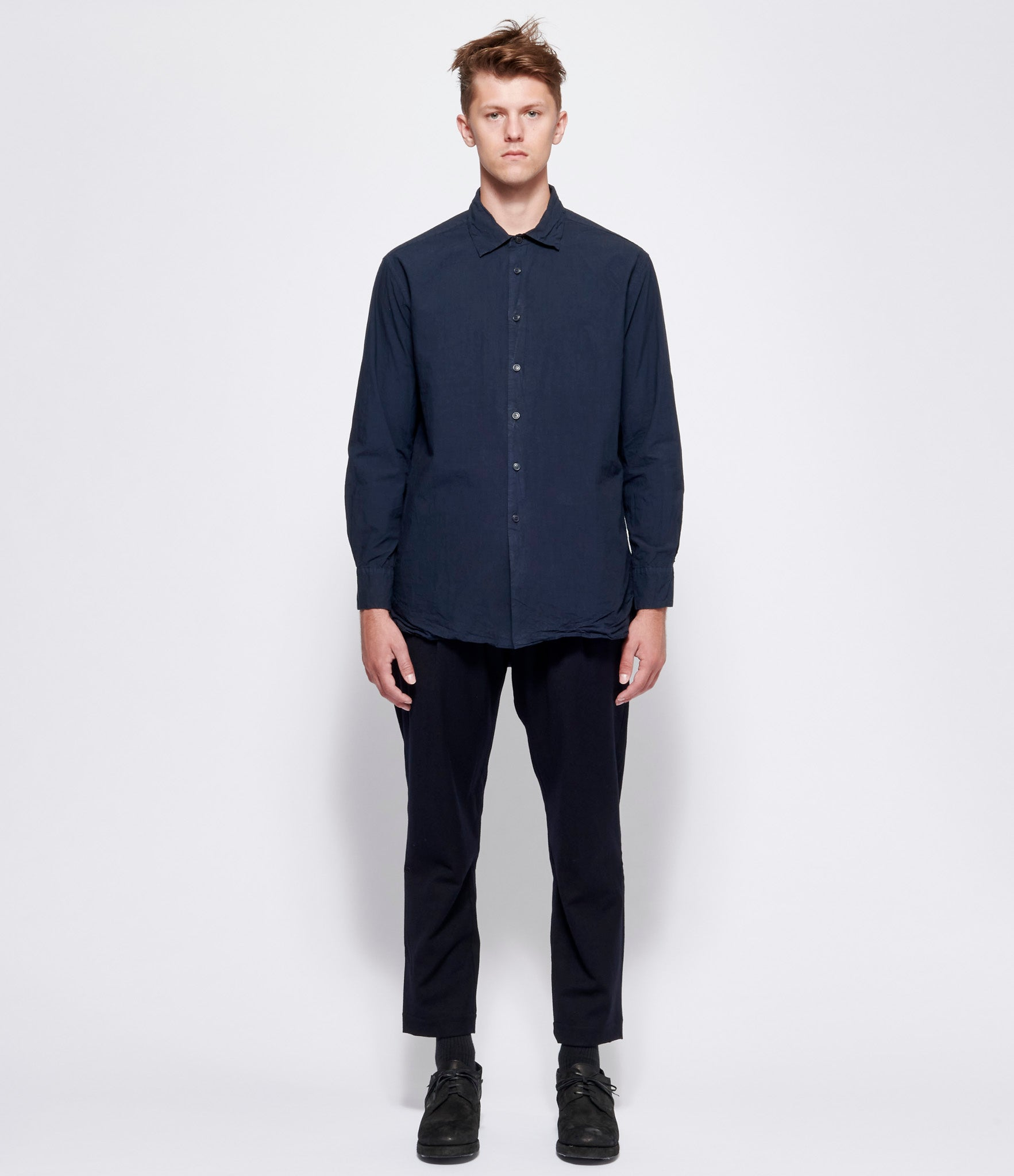 Casey Casey +PLUS Navy Big Raccourcie Shirt