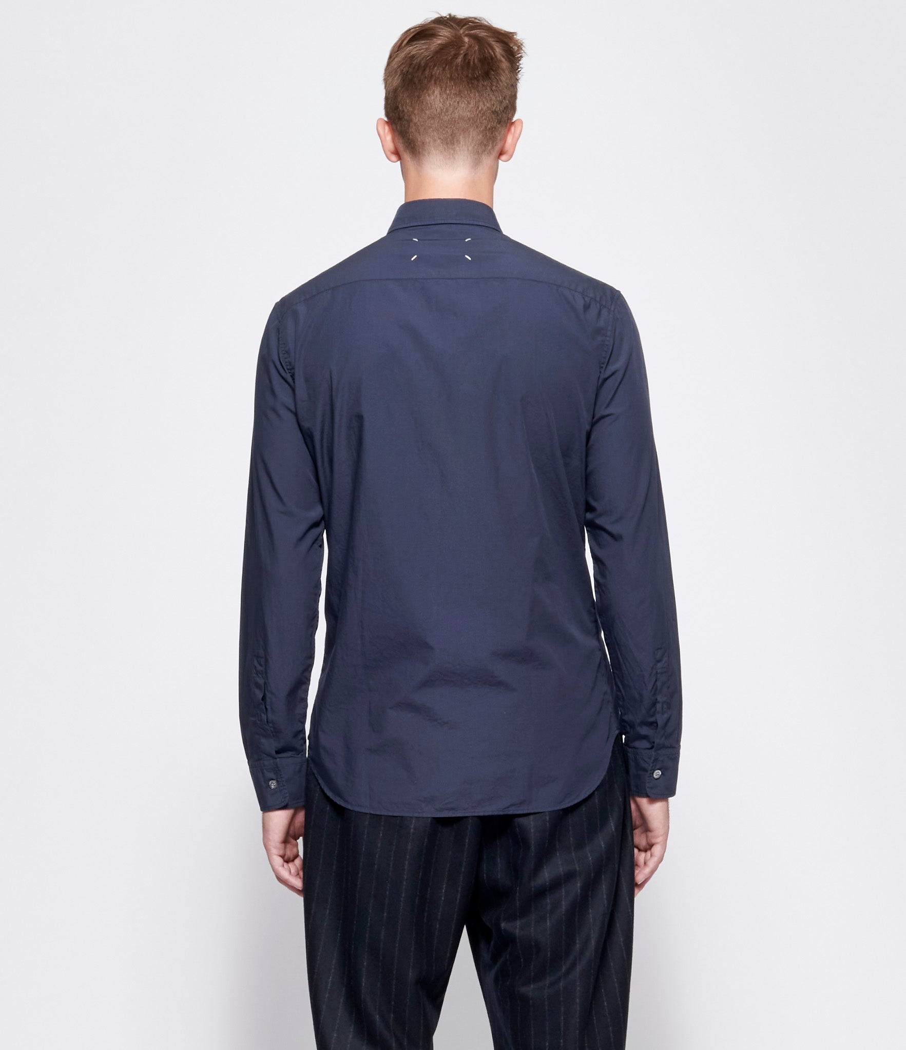 Maison Margiela Navy Garment Dyed Shirt