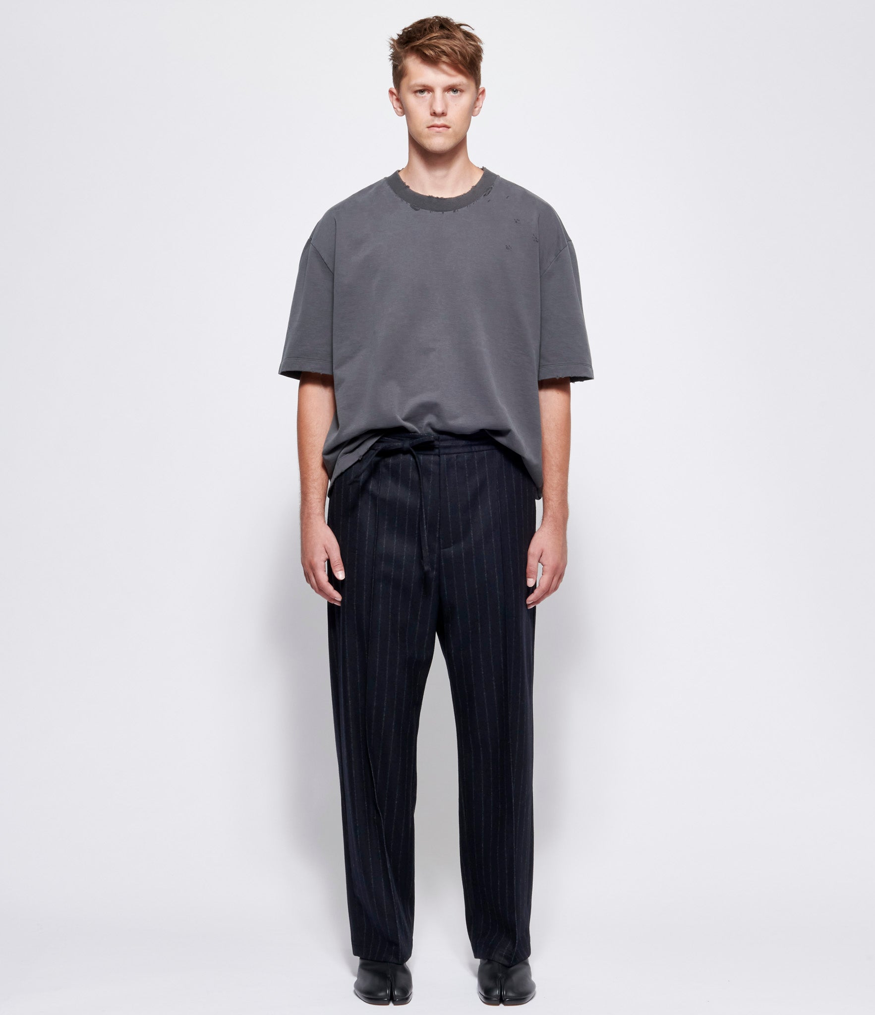 Maison Margiela Pinstriped Flannel Pants