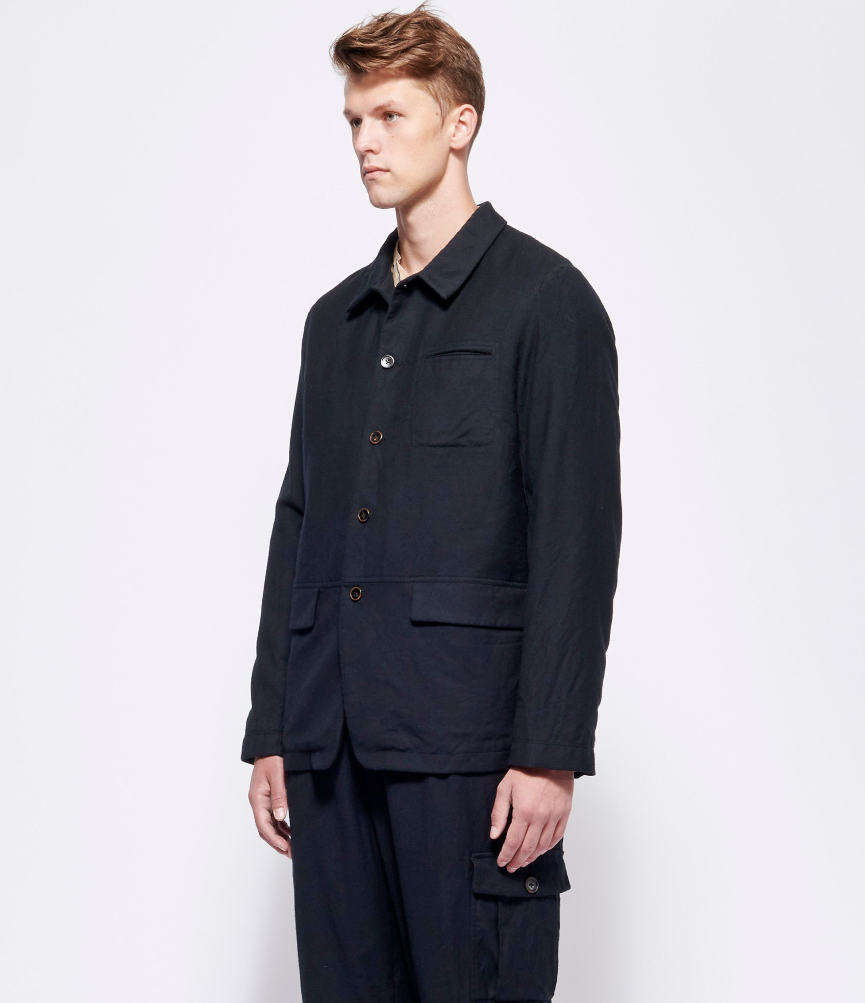 'T Ensemble Wool Unstructured Jacket