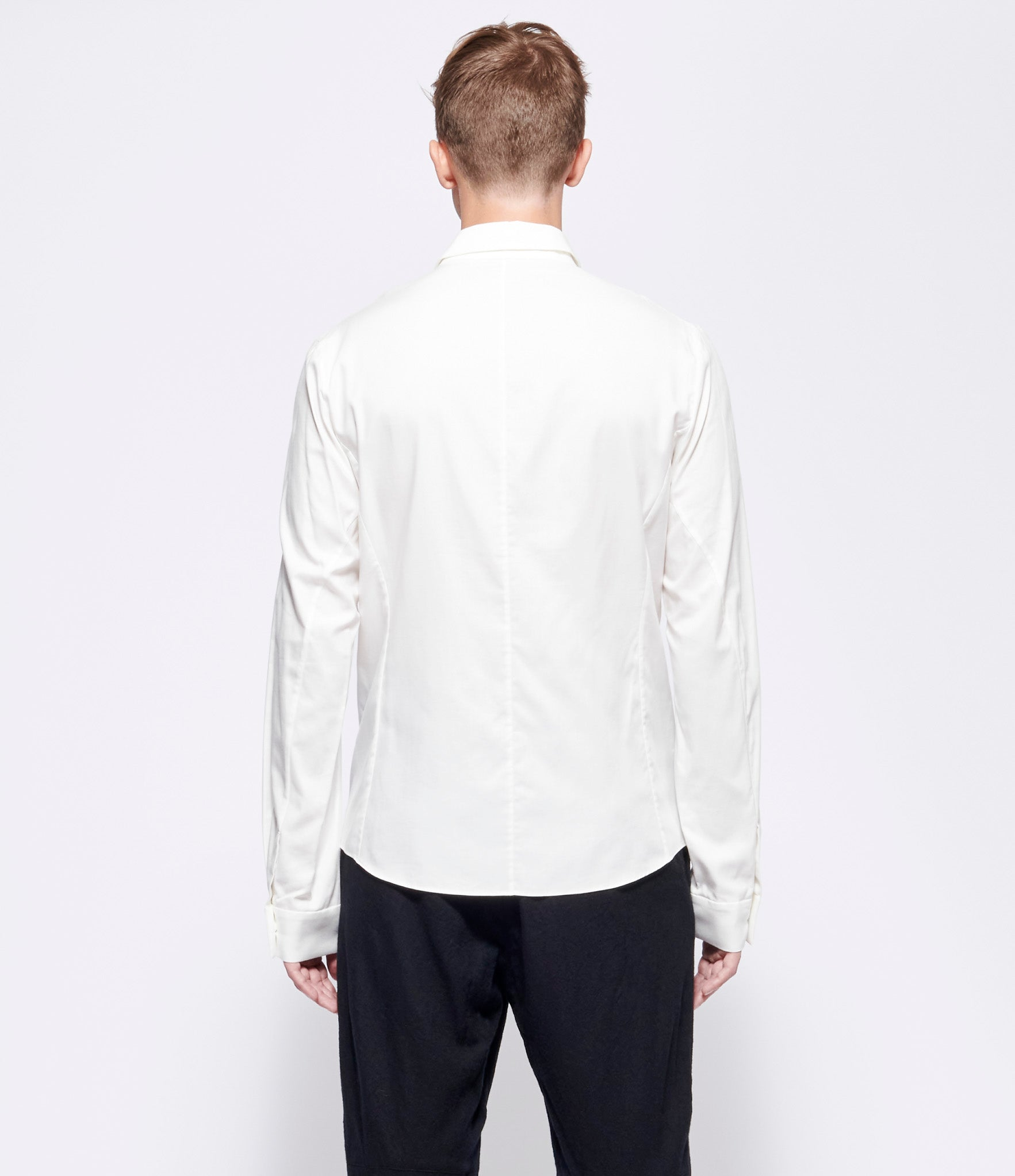 Individual Sentiments Cotton Twill White Shirt