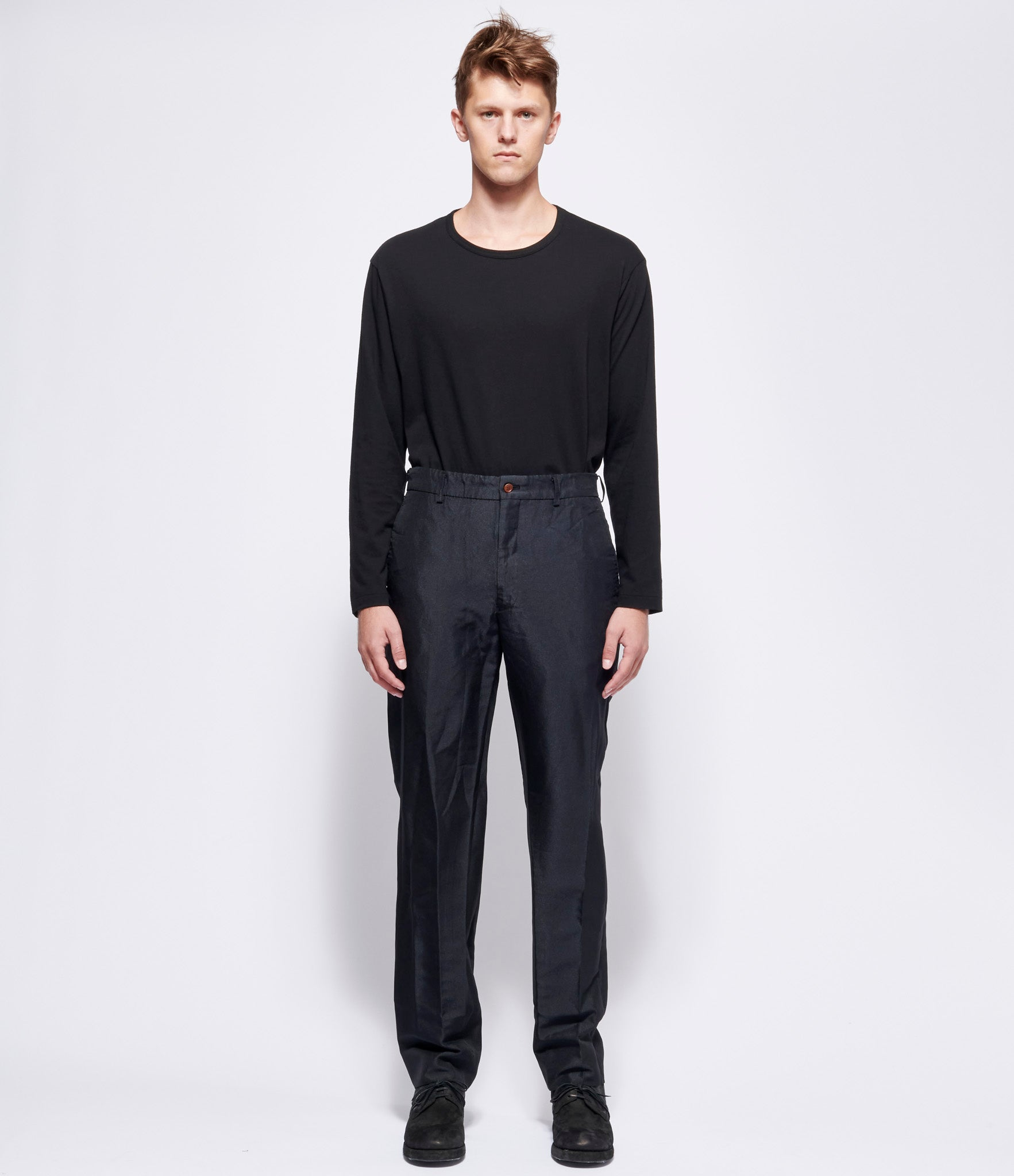 Comme Des Garcons Homme Plus Polyester Double Twill Garment Treated Trousers