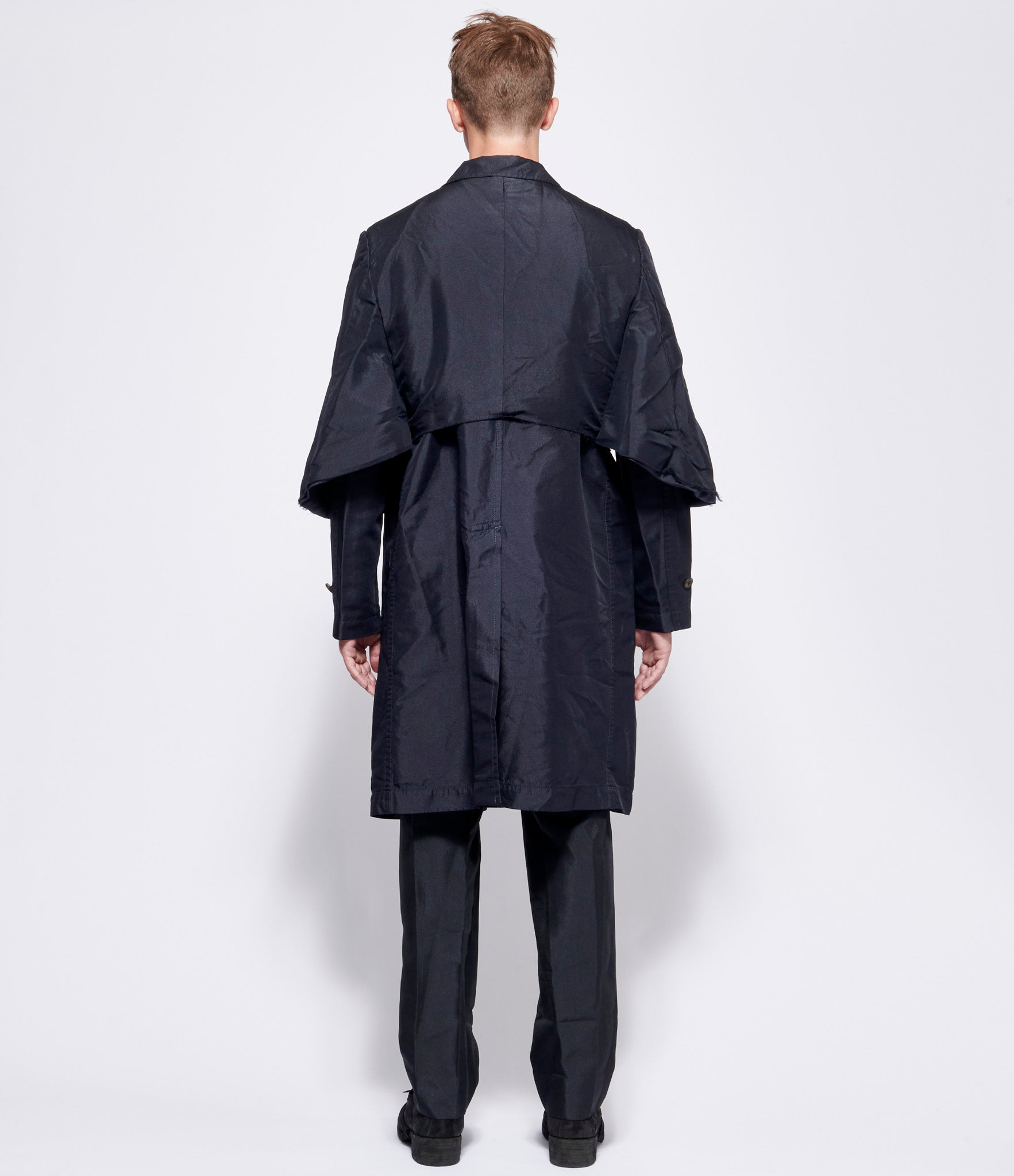 Comme Des Garcons Homme Plus Polyester Double Twill Garment Treated Long Blazer