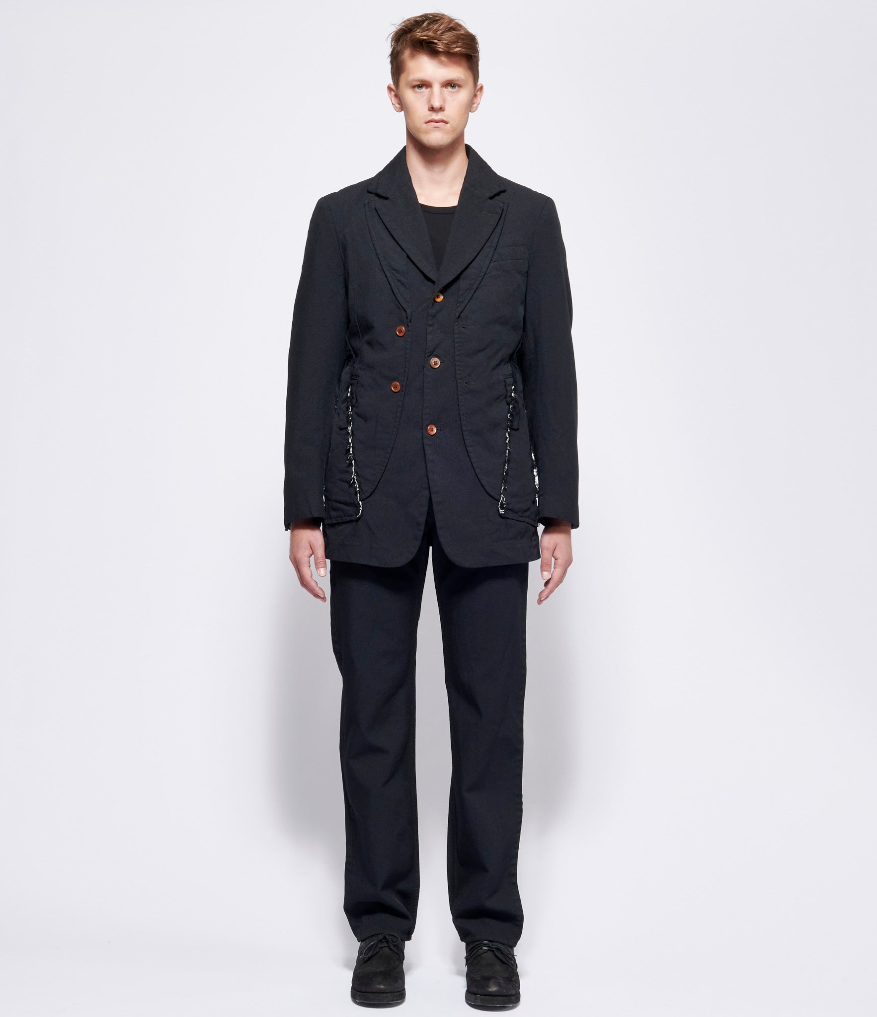 Comme Des Garcons Homme Plus Polyester Oxford Garment Treated Trousers