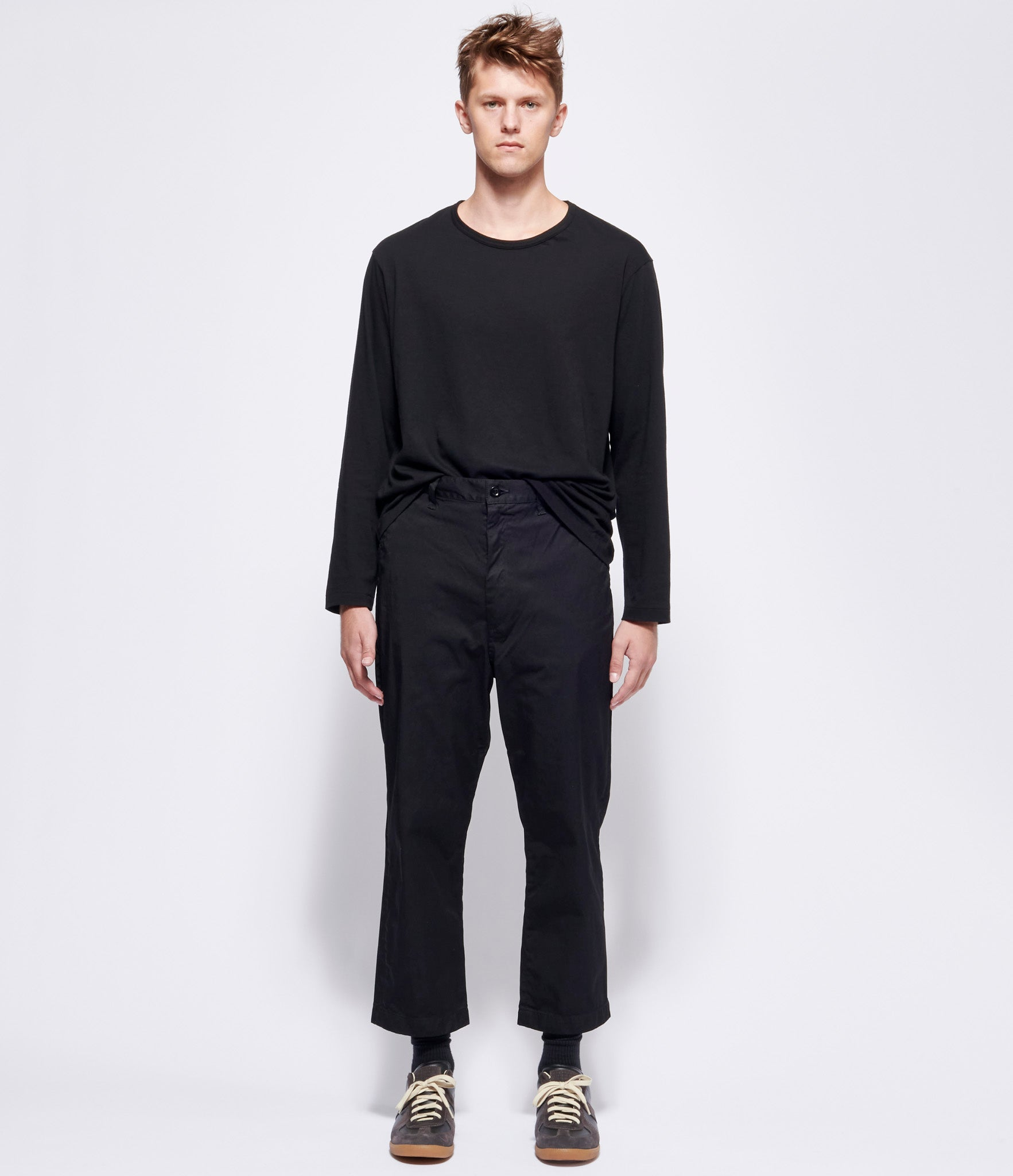 Junya Watanabe Man Nylon Spun Twill Garment Treated Cropped Trousers