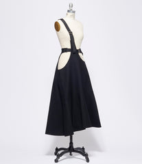 Junya Watanabe Wool Compressed Serge One-Strap Suspender Skirt