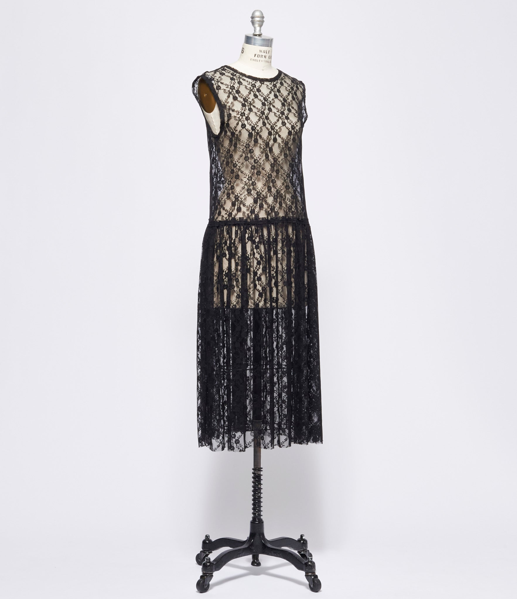 Replika Black Stretch Nylon Lace Dress