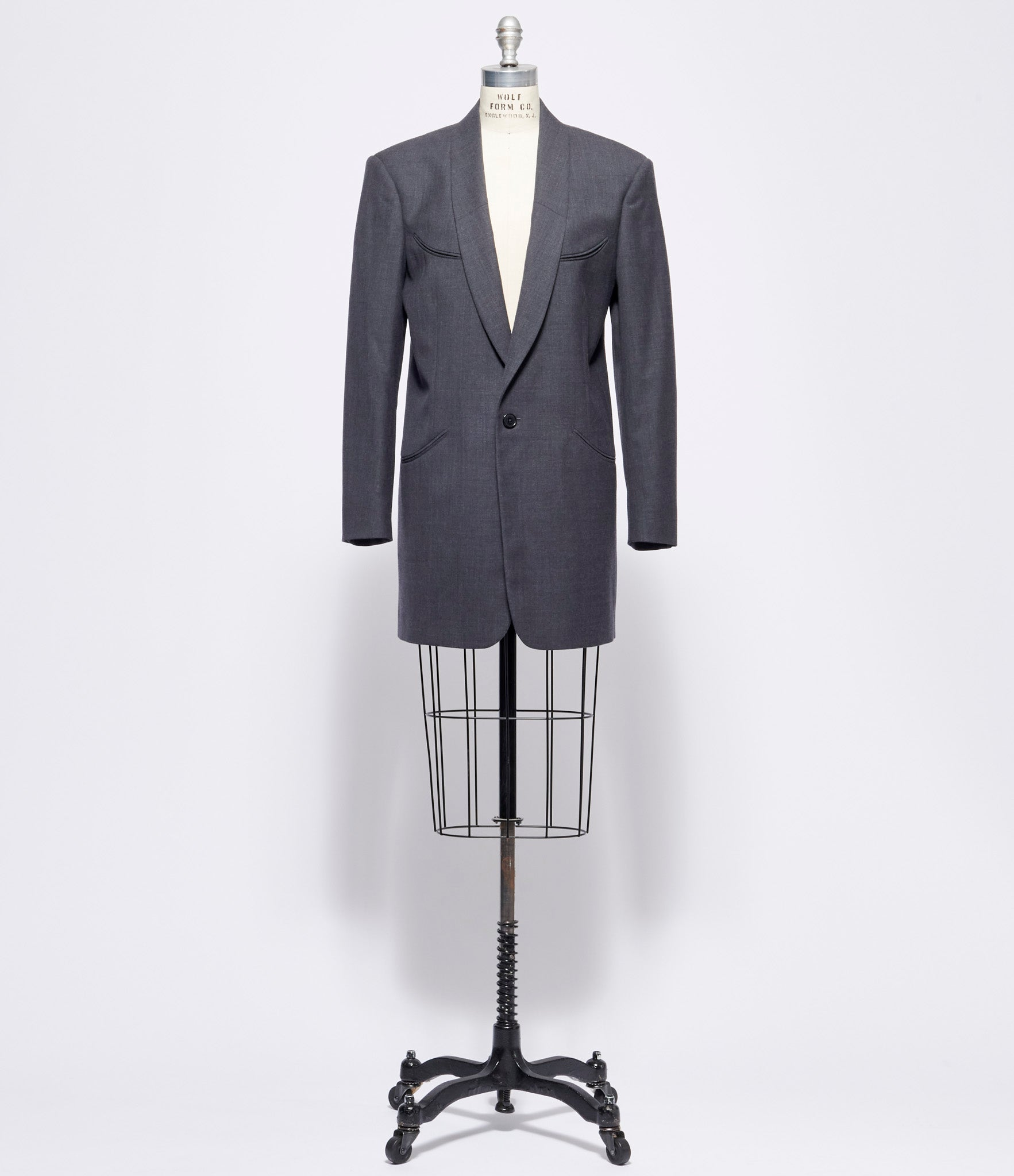 Maison Margiela Grey Melange Wool Long Blazer
