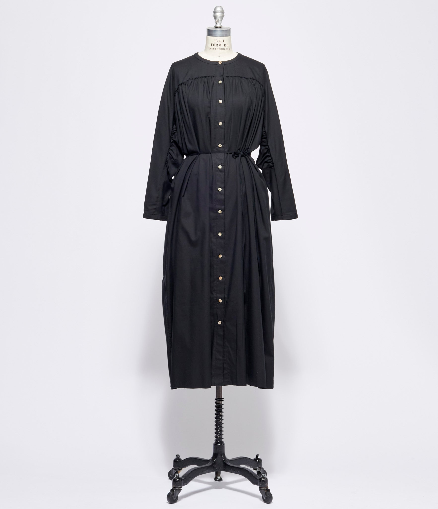 Individual Sentiments Gathered Tie Waist Dress