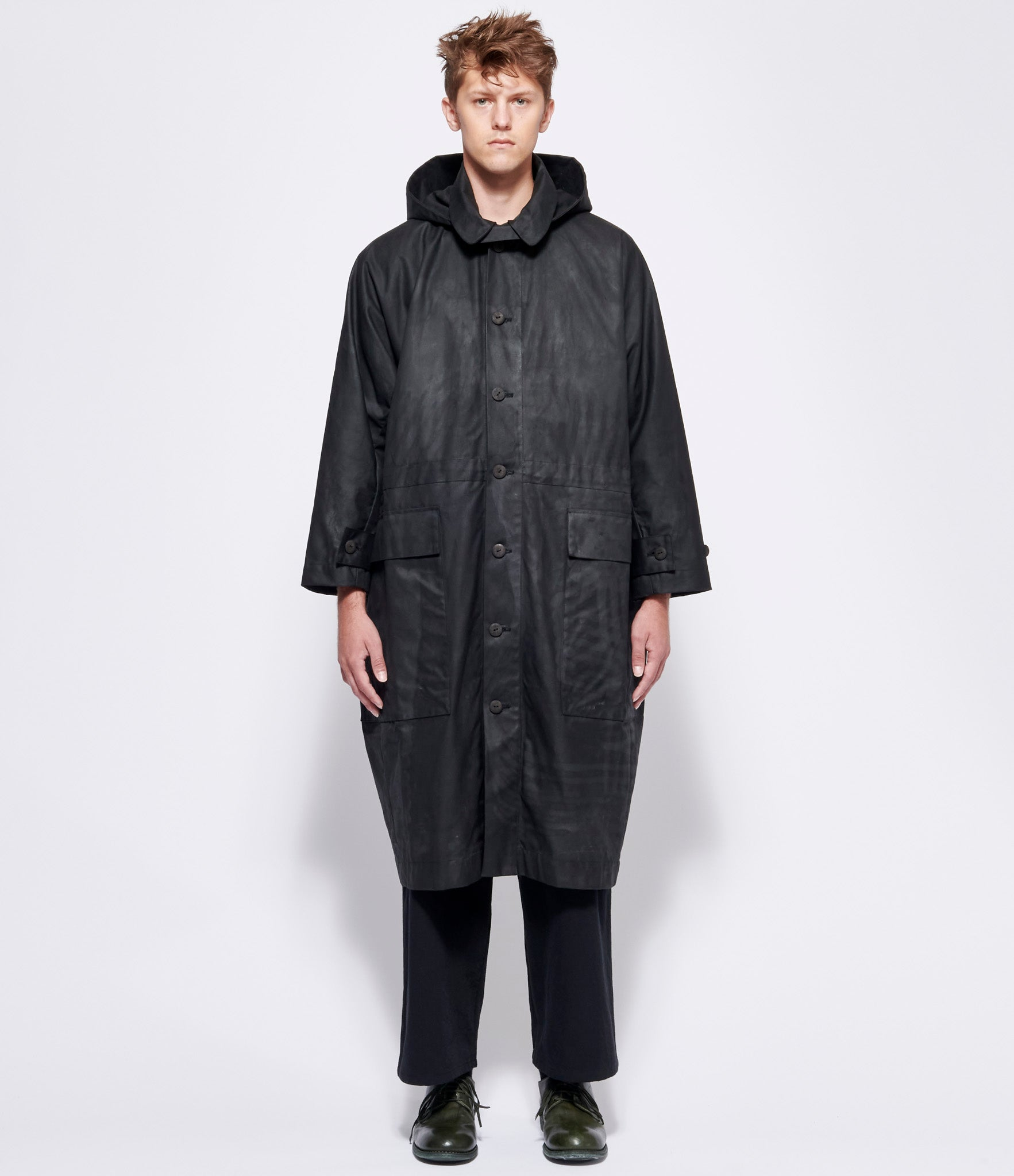 toogood Flint Waxed Cotton Ploughman Coat