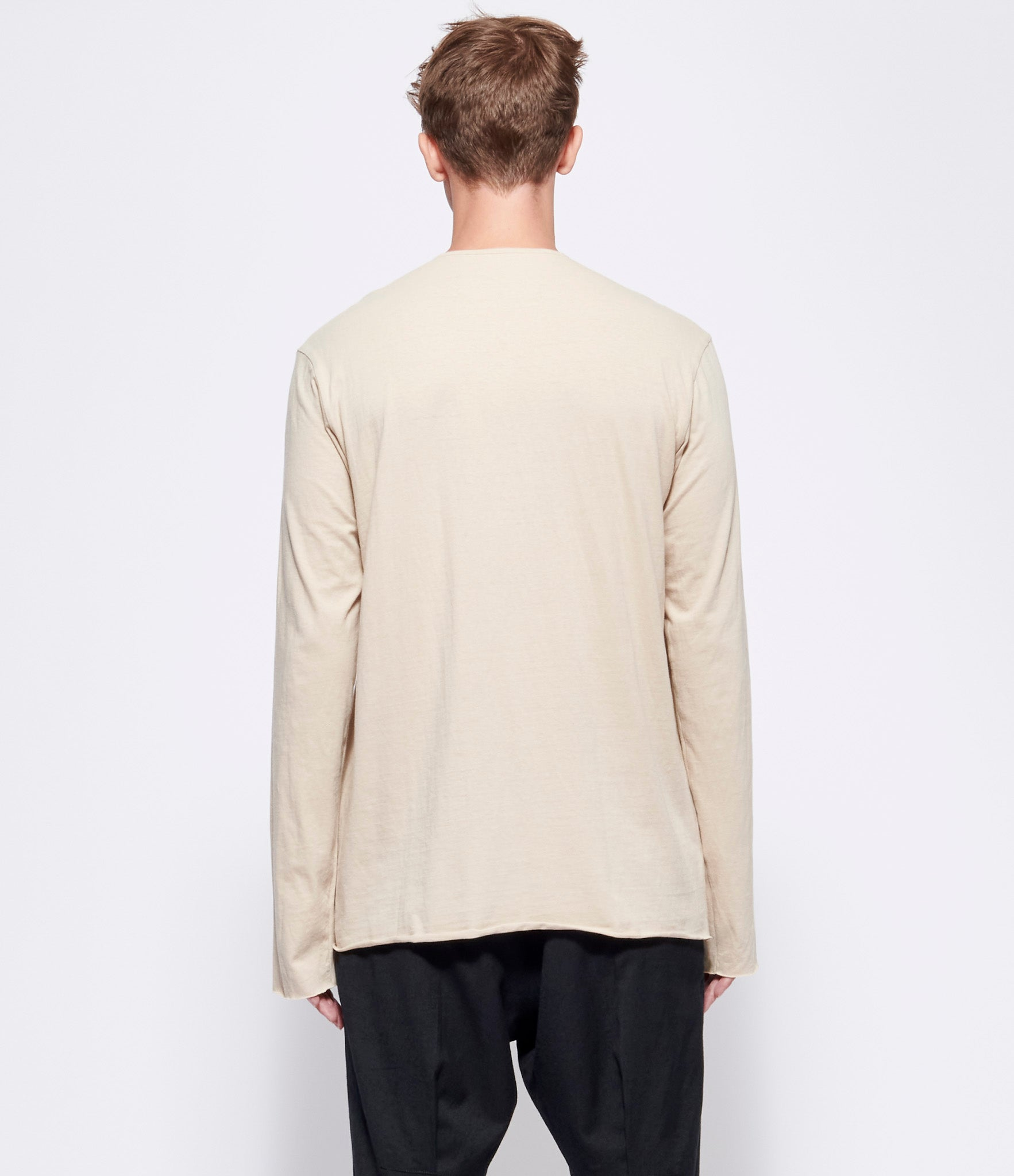 Ziggy Chen Ivory Cotton T-Shirt