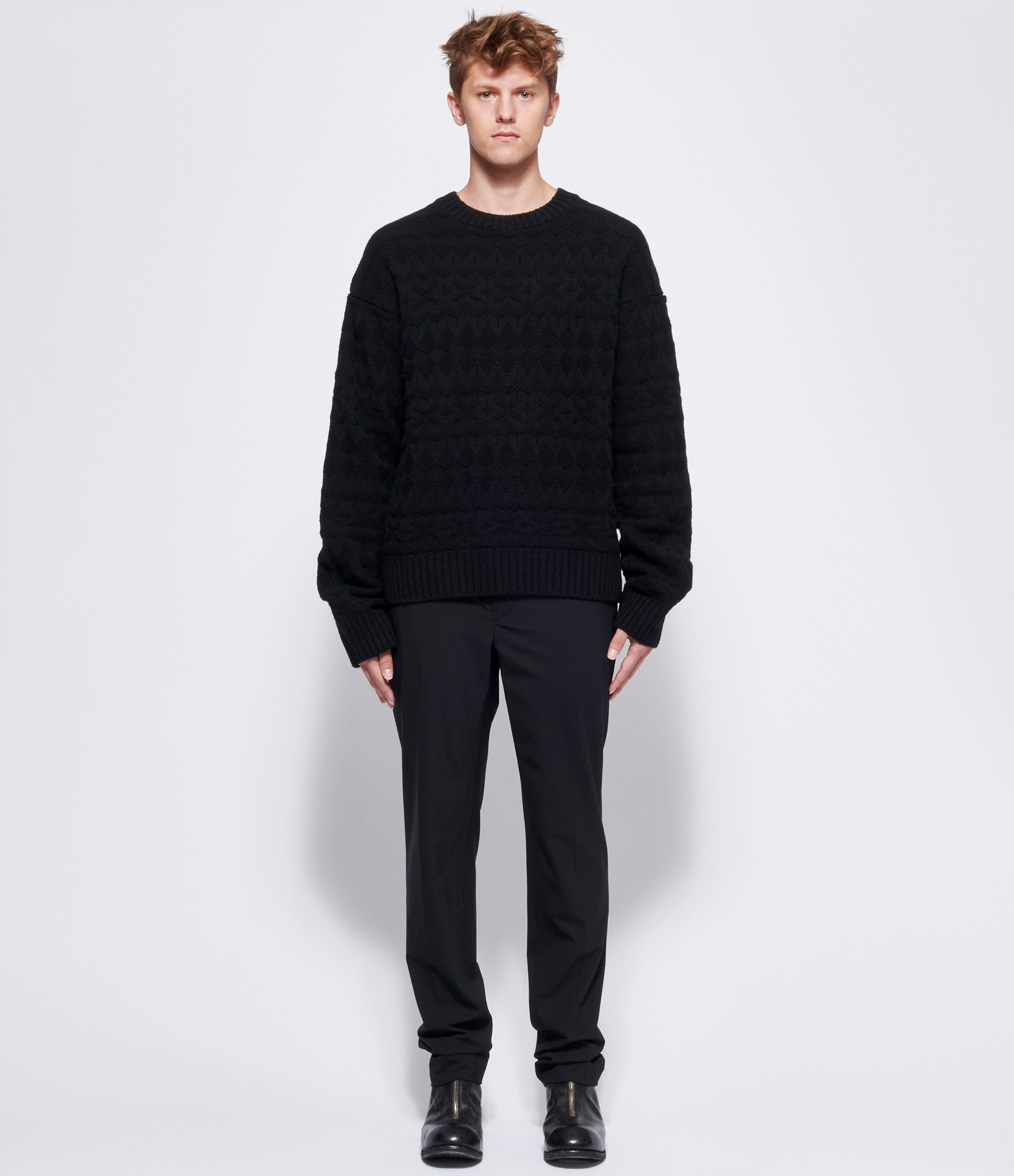 TAKAHIROMIYASHITA TheSoloist Crew Neck Fair Isle Sweater