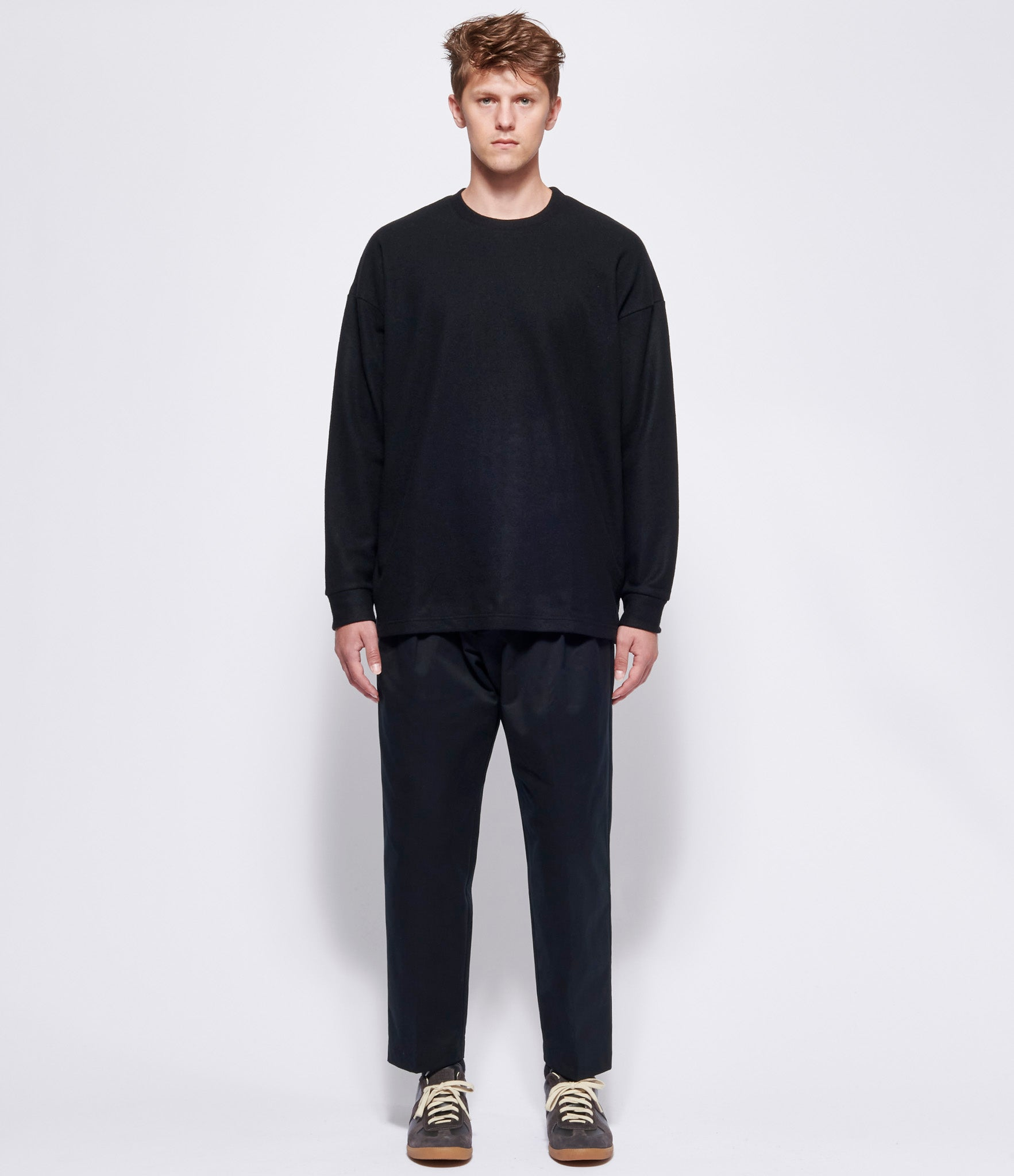 Attachment Kazuyuki Kumagai Cotton Gabardine Wide Taper Pants