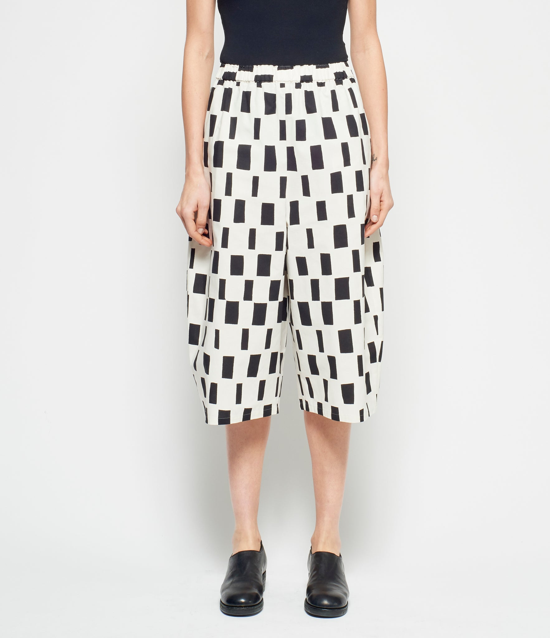 Junya Watanabe x Marimekko Rectangle Print Cotton Cloth Pants
