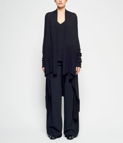 Rick Owens Basic Long Wrap Cardigan