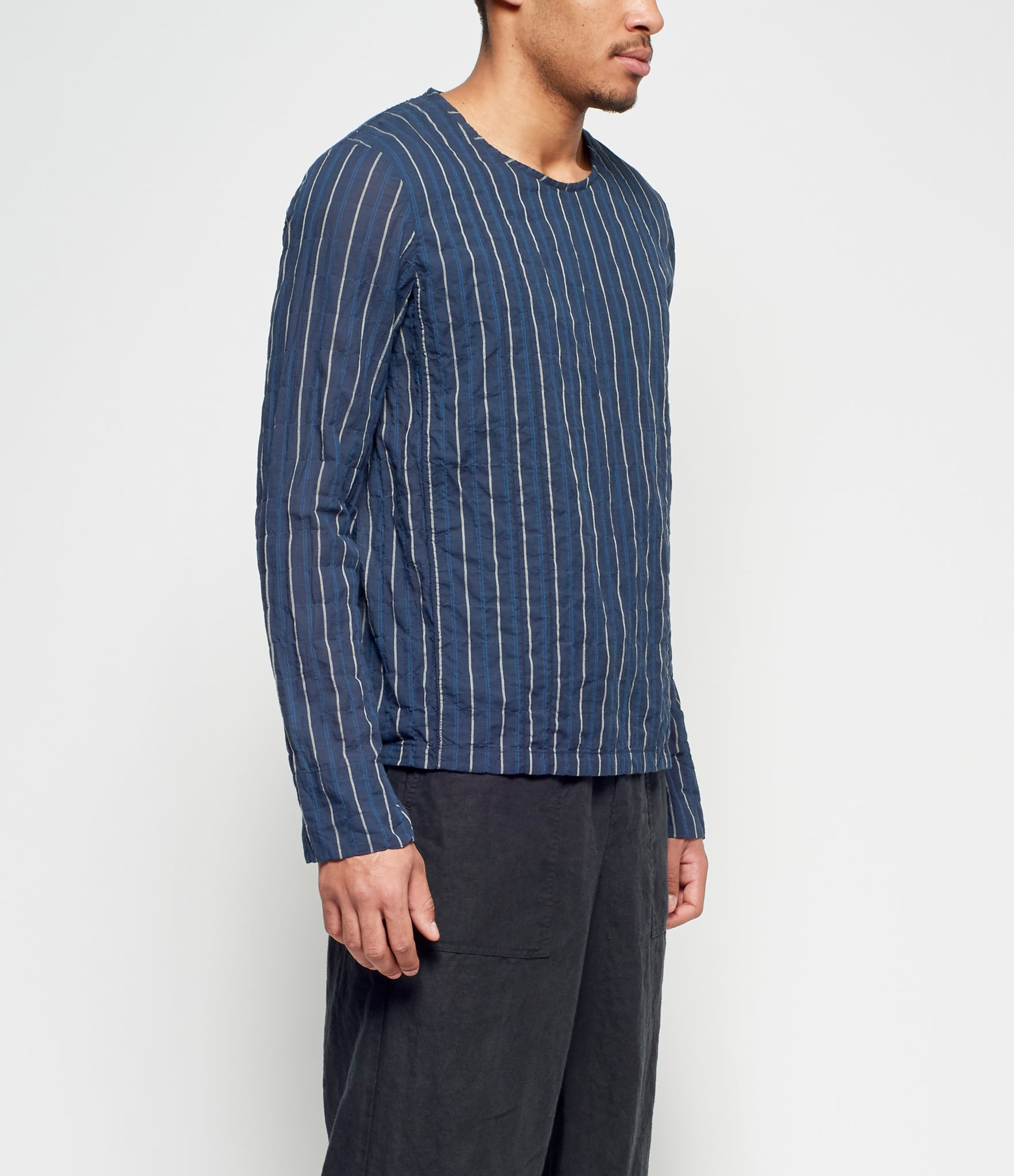 'T Ensemble Striped Pullover Shirt