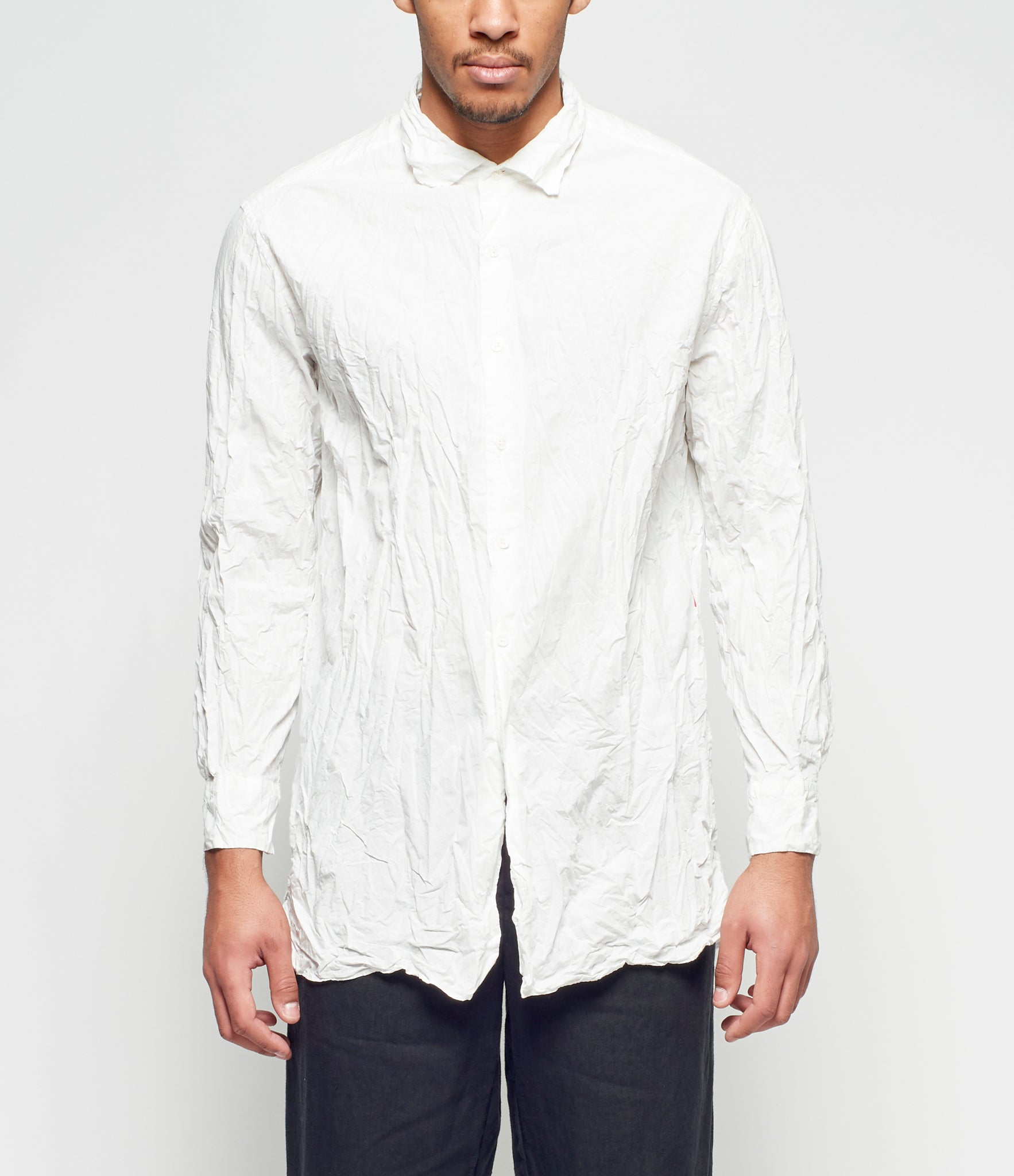 Casey Casey No Pocket Paper Big White Shirt
