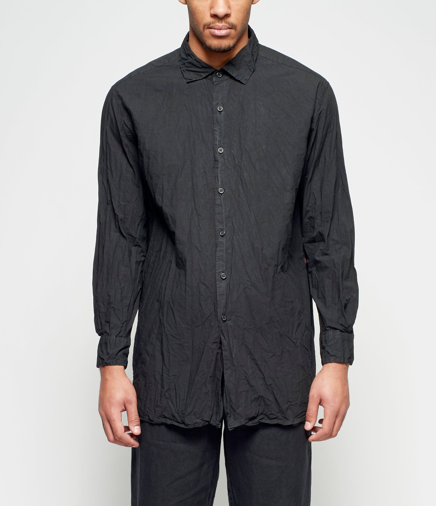 Casey Casey No Pocket Paper Big Black Shirt