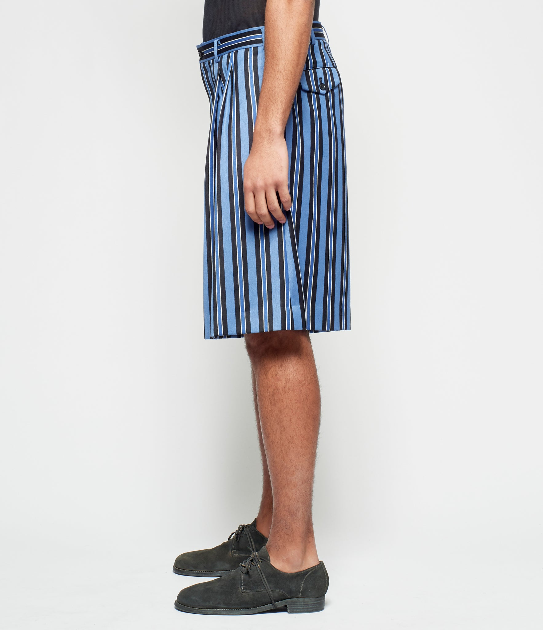 Comme Des Garcons Homme Plus Wool Regimental Stripe Short Pants