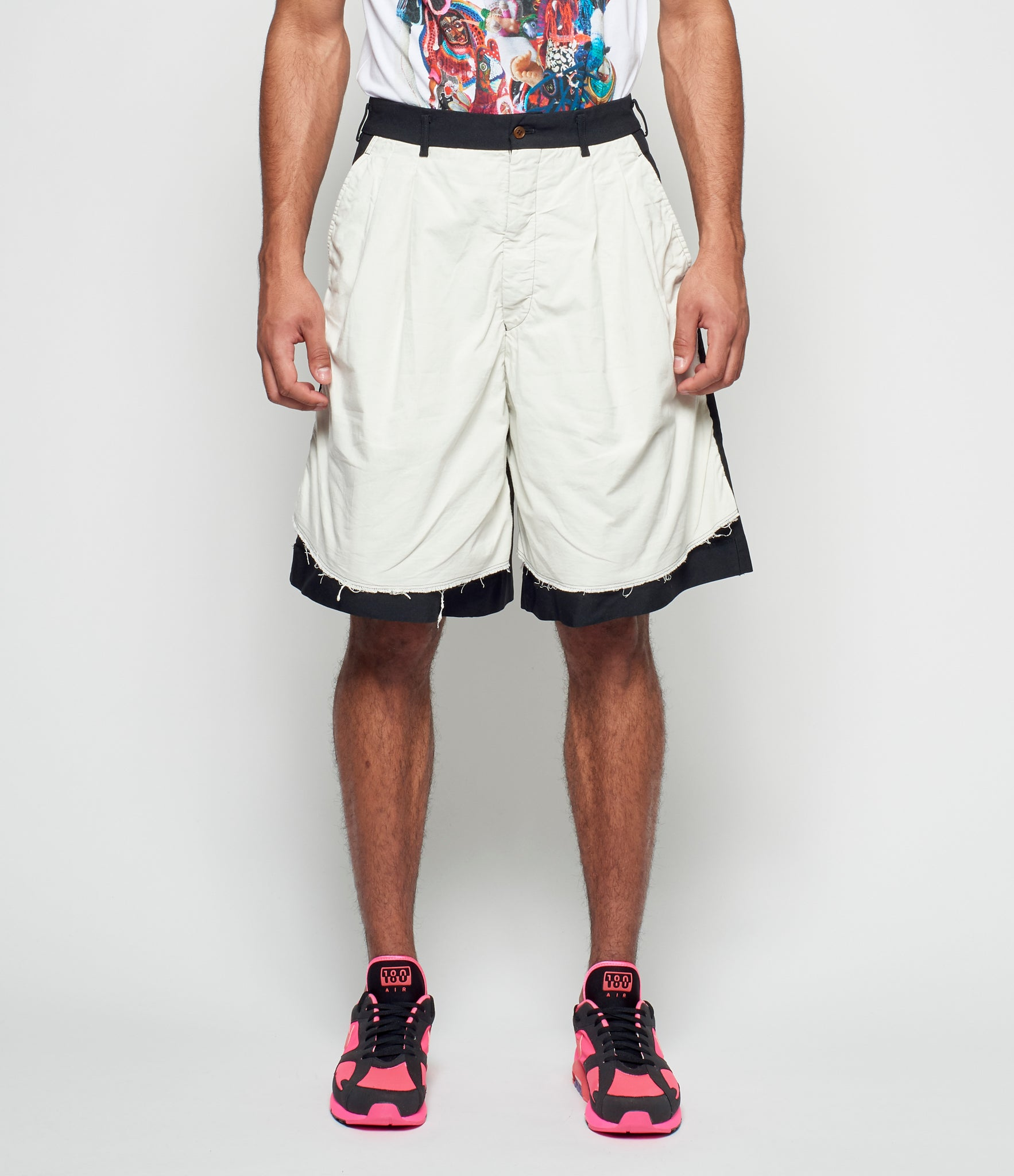 Comme Des Garcons Homme Plus Polyester Double Cloth Twill Garment Treated Shorts