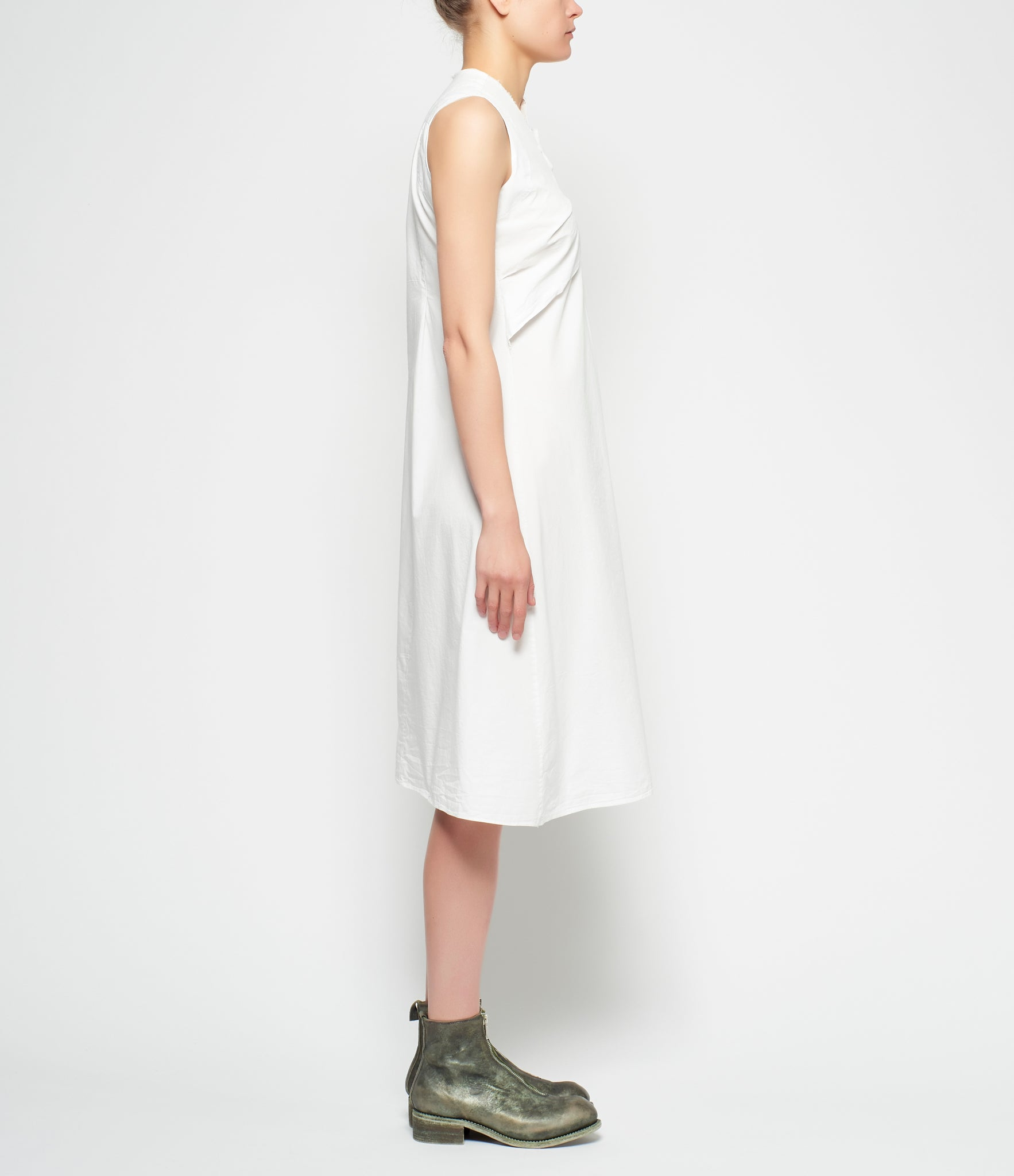 Marc Le Bihan Stitched Folds Cotton Dress
