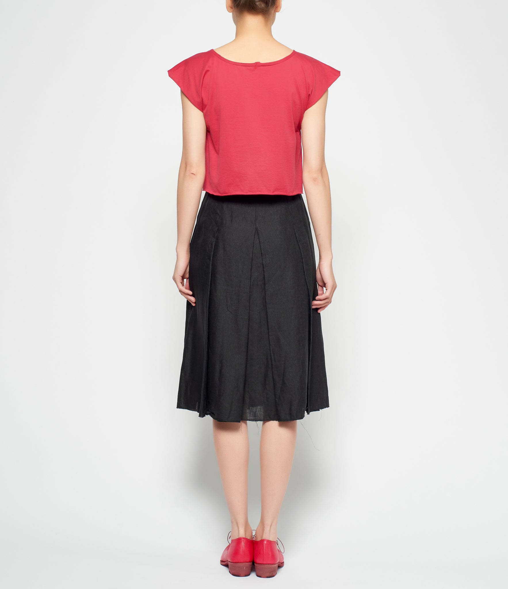 m.a+ Pleated Linen Skirt