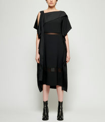 Replika Polyester Draped Dress
