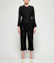 Elena Dawson Black Heavy Silk Satin Drawstring Pants