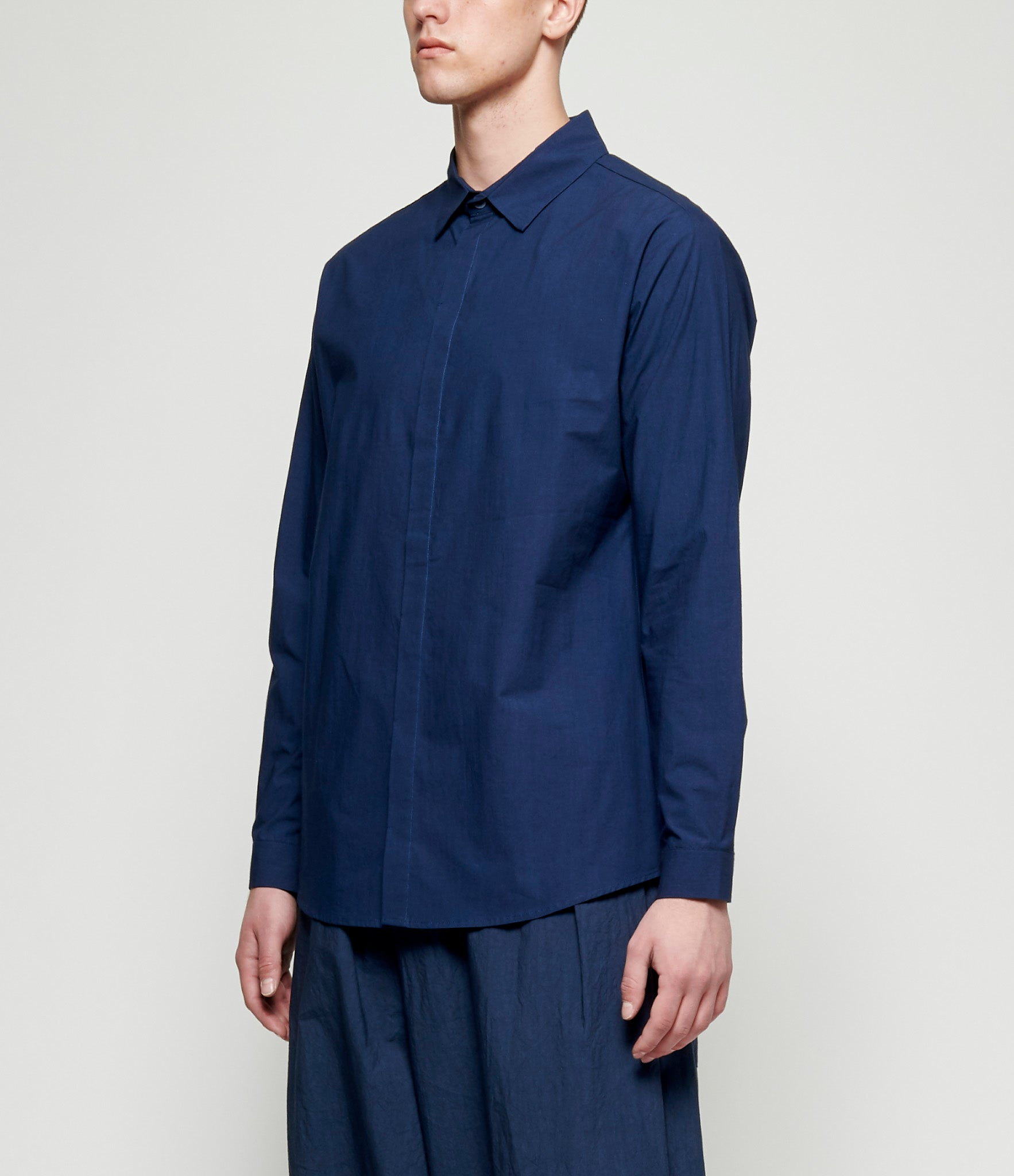 Toogood Cotton Percale Milkman Shirt