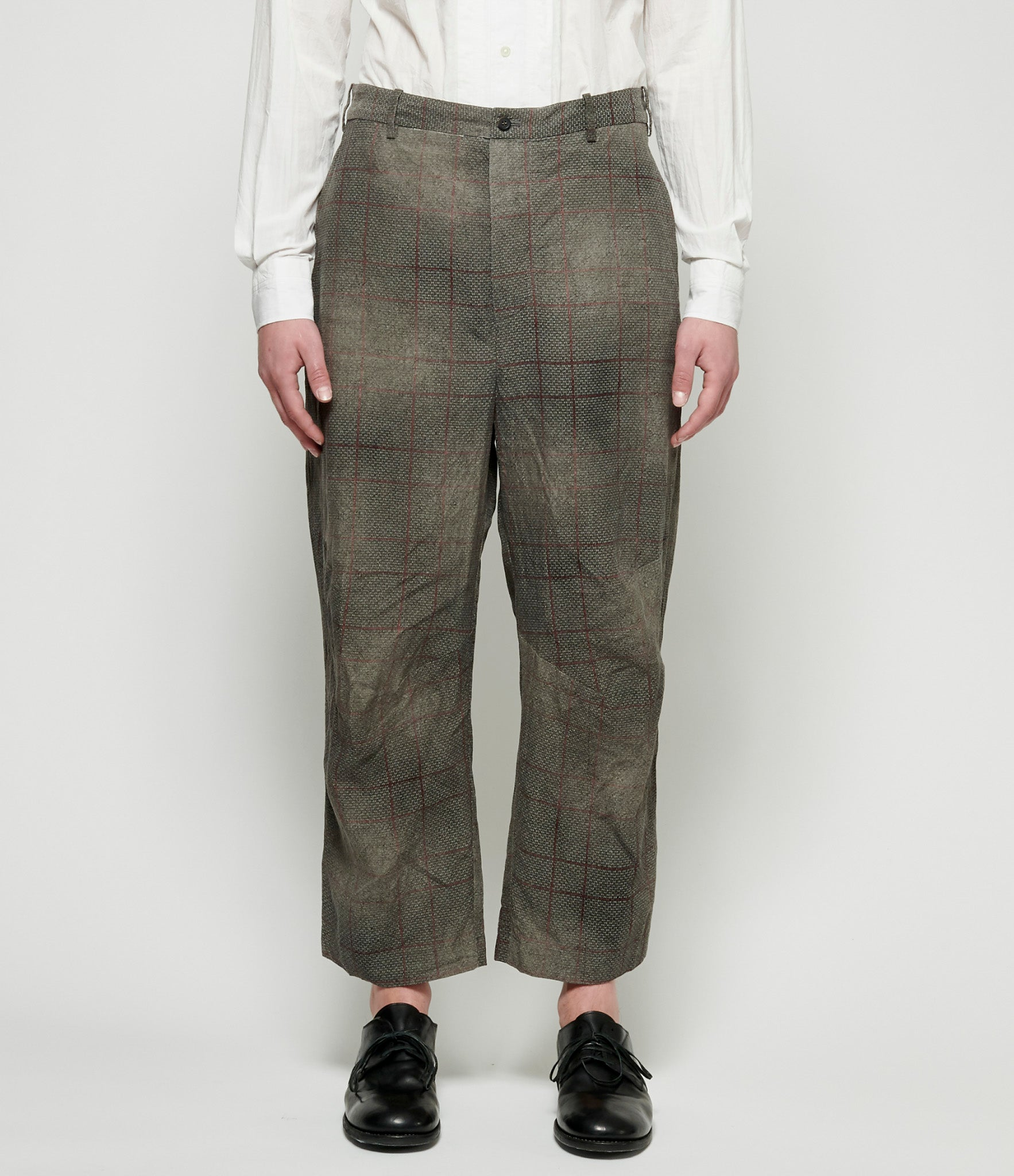 Forme d'Expression Dusty Check Work Pants
