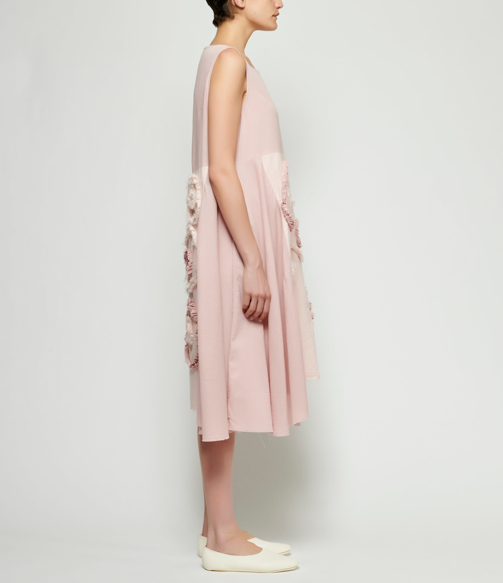 PHOS PHORO Blush Uneven Dress