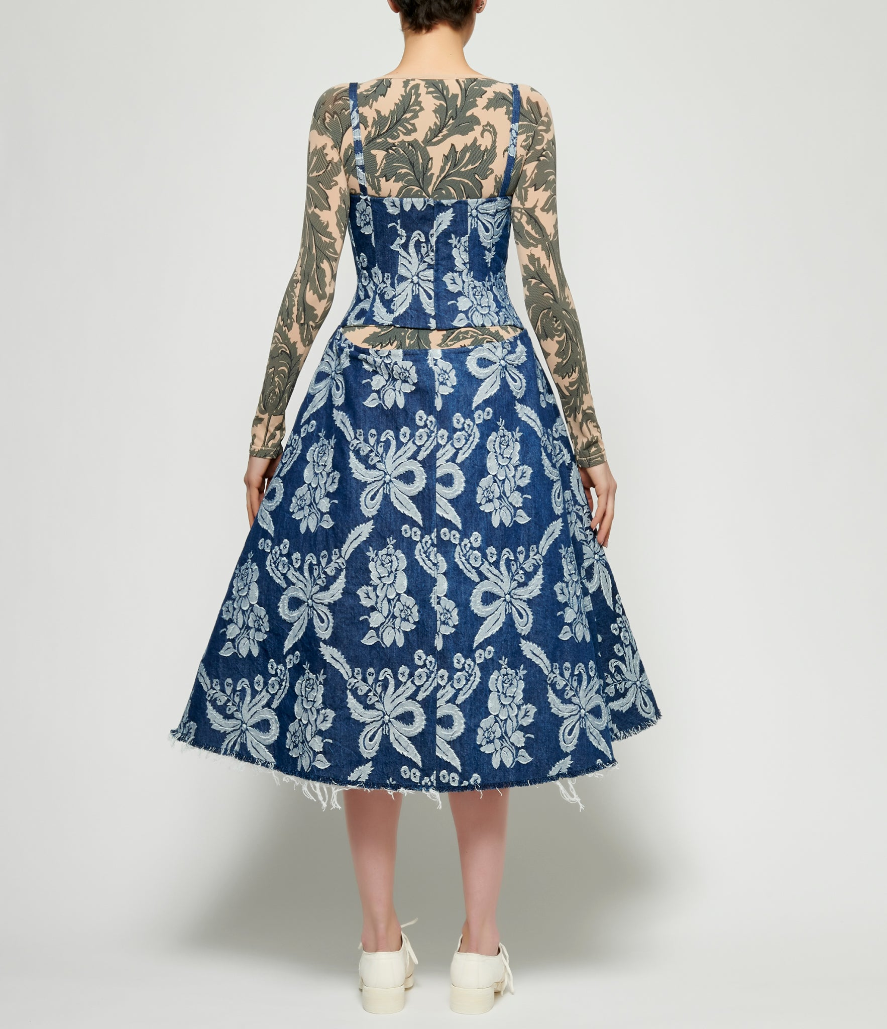 Junya Watanabe Printed Denim Jacquard Dress